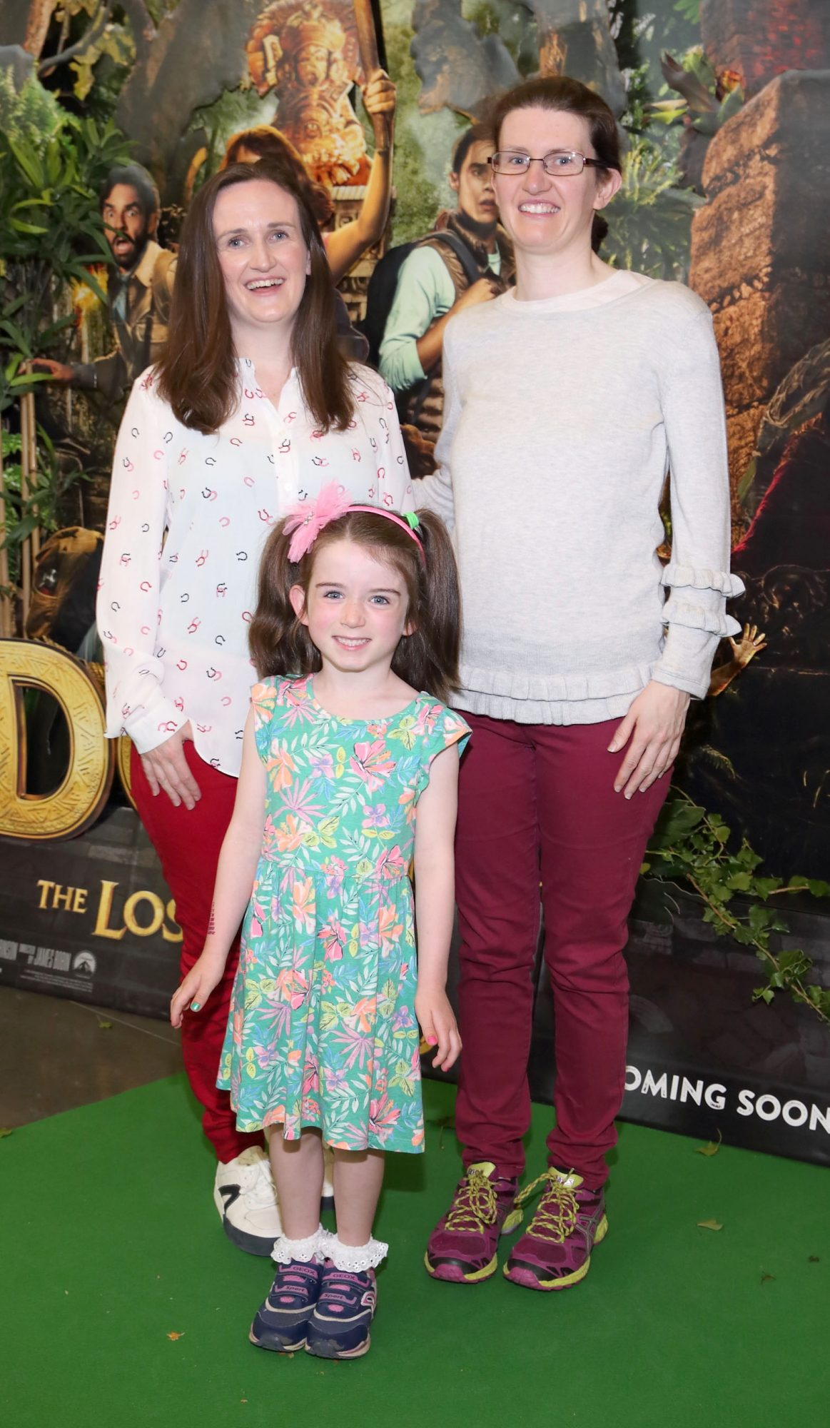 Michelle Monahan, Anne-Marie Gallagher and Saoirse Monahan at the special preview screening of Dora and the Lost City of Gold at the Odeon Cinema in Point Square,Dublin. Pic Brian McEvoy Photography
