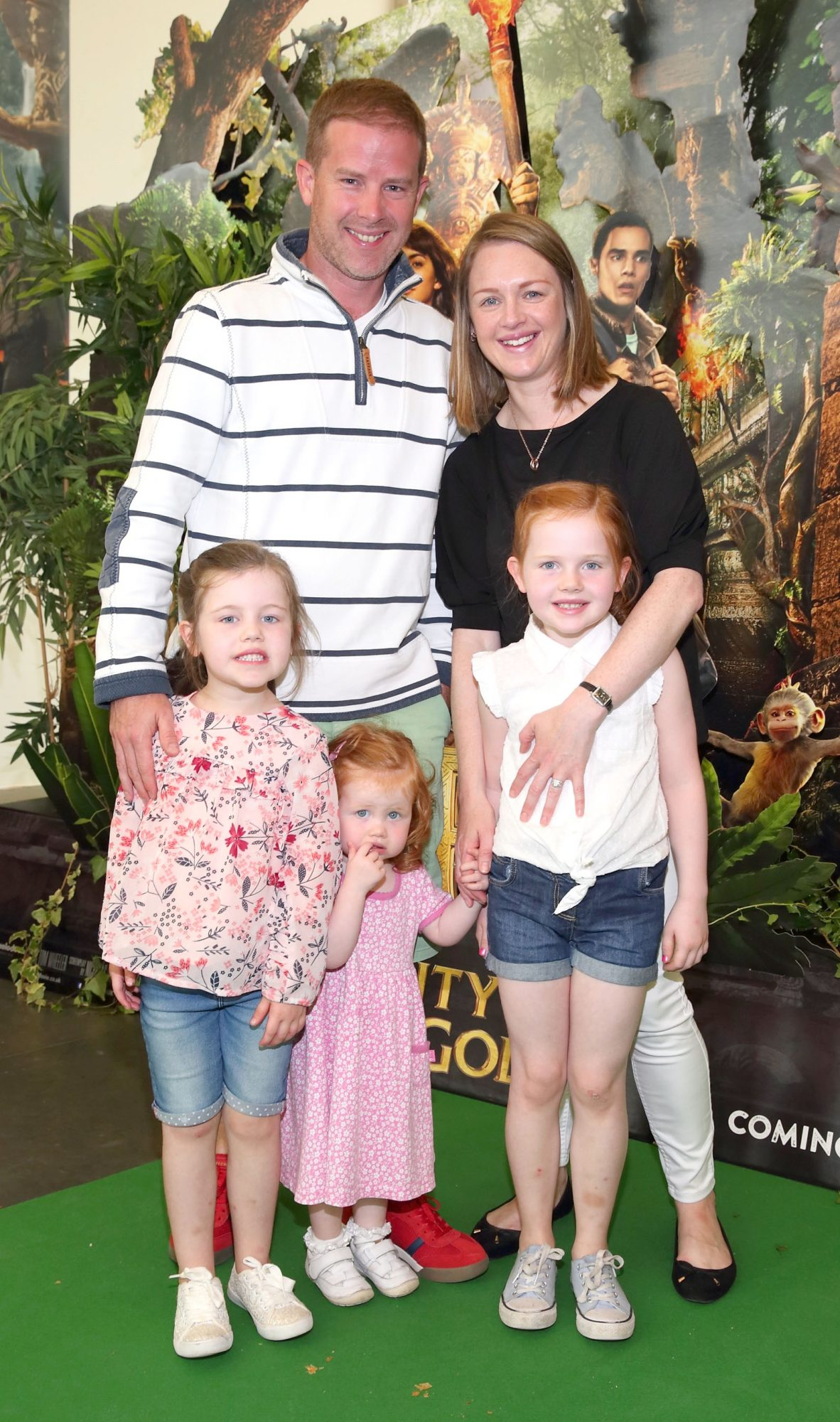Gavin McAllister, Alice McAllister, Beth McAllister, Tess McAllister and Eve McAllister at the special preview screening of Dora and the Lost City of Gold at the Odeon Cinema in Point Square,Dublin. Pic Brian McEvoy Photography