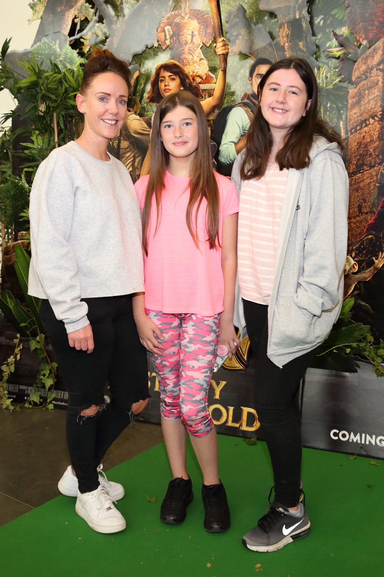 Orla Maguire, Summer Geoghegan and Toni O'Rourke at the special preview screening of Dora and the Lost City of Gold at the Odeon Cinema in Point Square,Dublin. Pic Brian McEvoy Photography