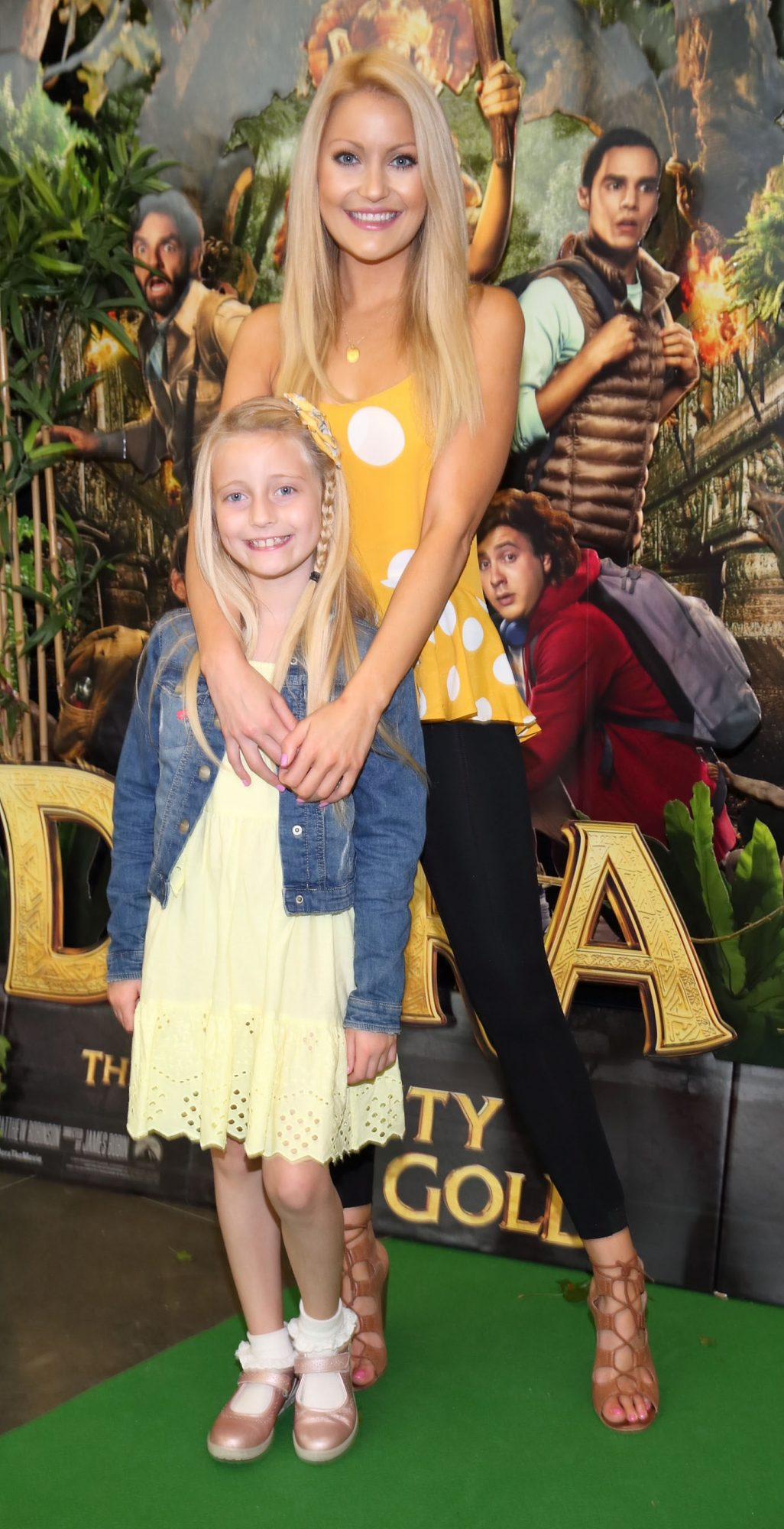 Kerri-Nicole Blanc and Kayla Blanc  at the special preview screening of Dora and the Lost City of Gold at the Odeon Cinema in Point Square,Dublin. Pic Brian McEvoy Photography