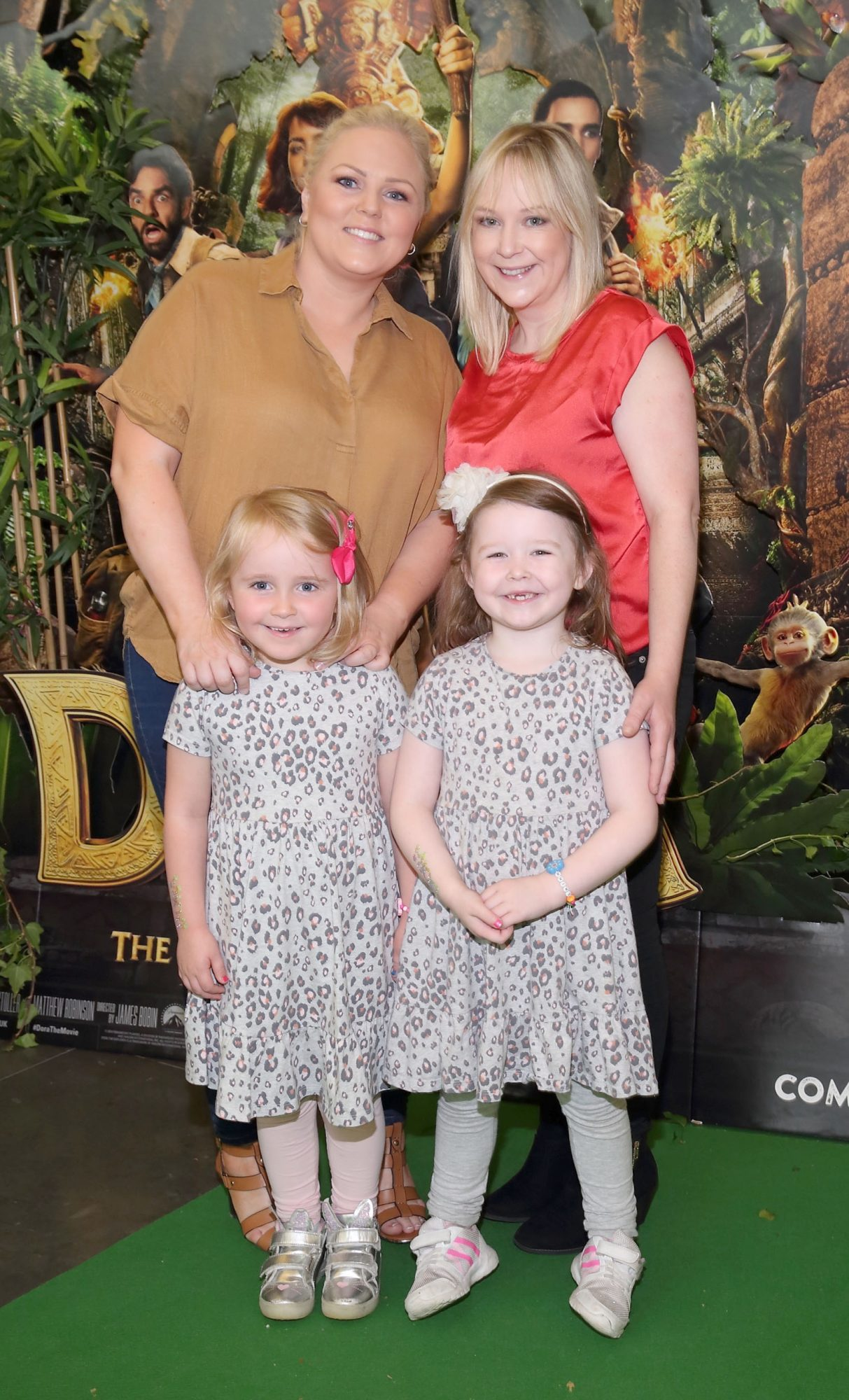 Niamh Sherwin, Clare Sherwin, Lily Murray and Erinn Malone  at the special preview screening of Dora and the Lost City of Gold at the Odeon Cinema in Point Square,Dublin. Pic Brian McEvoy Photography