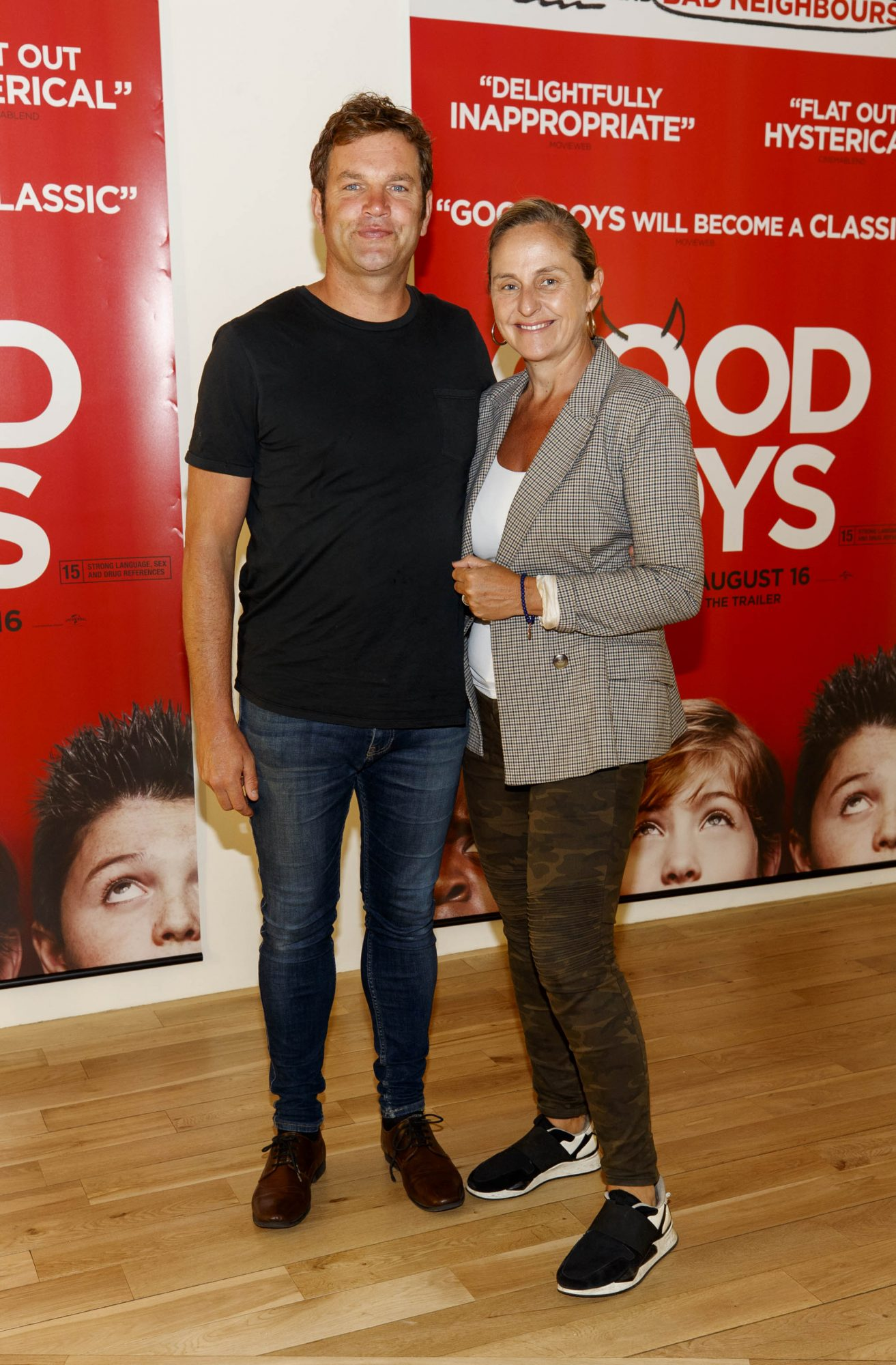 Johnny Carroll and Debbie O'Donnell pictured at a special preview screening of Good Boys at the Light House Cinema, Dublin. Picture: Andres Poveda