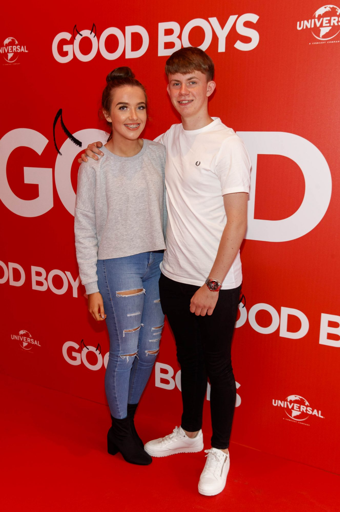 Sophie Walsh and Nathan Mooney pictured at a special preview screening of Good Boys at the Light House Cinema, Dublin. Picture: Andres Poveda