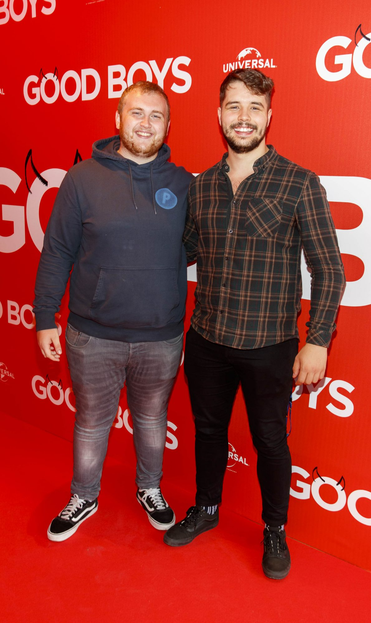 Conor McCann and Rob Quinn pictured at a special preview screening of Good Boys at the Light House Cinema, Dublin. Picture: Andres Poveda
