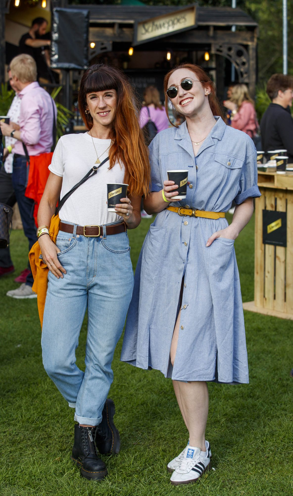 Aoife Martinho and January Russell Winters, at the Schweppes #UltimateMixer Sessions at The Big Grill festival in Herbert Park, Dublin, where guests sipped on expertly crafted cocktails and enjoyed live music mixes from Irish bands and DJs. Picture: Andres Poveda