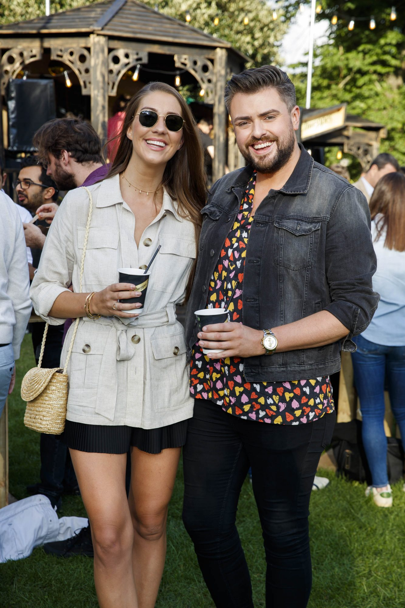 Clémentine MacNeice and James Patrice at the Schweppes #UltimateMixer Sessions at The Big Grill festival in Herbert Park, Dublin, where guests sipped on expertly crafted cocktails and enjoyed live music mixes from Irish bands and DJs. Picture: Andres Poveda