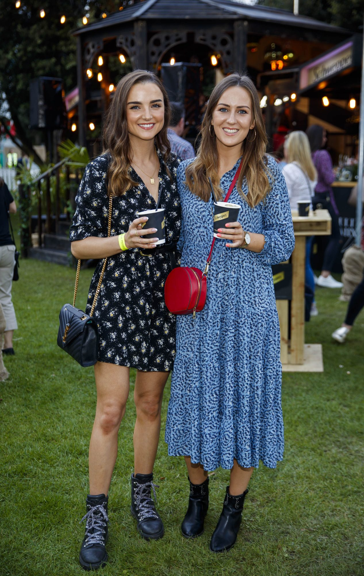 Niamh O'Sullivan and Sadhbh Higgins at the Schweppes #UltimateMixer Sessions at The Big Grill festival in Herbert Park, Dublin, where guests sipped on expertly crafted cocktails and enjoyed live music mixes from Irish bands and DJs. Picture: Andres Poveda