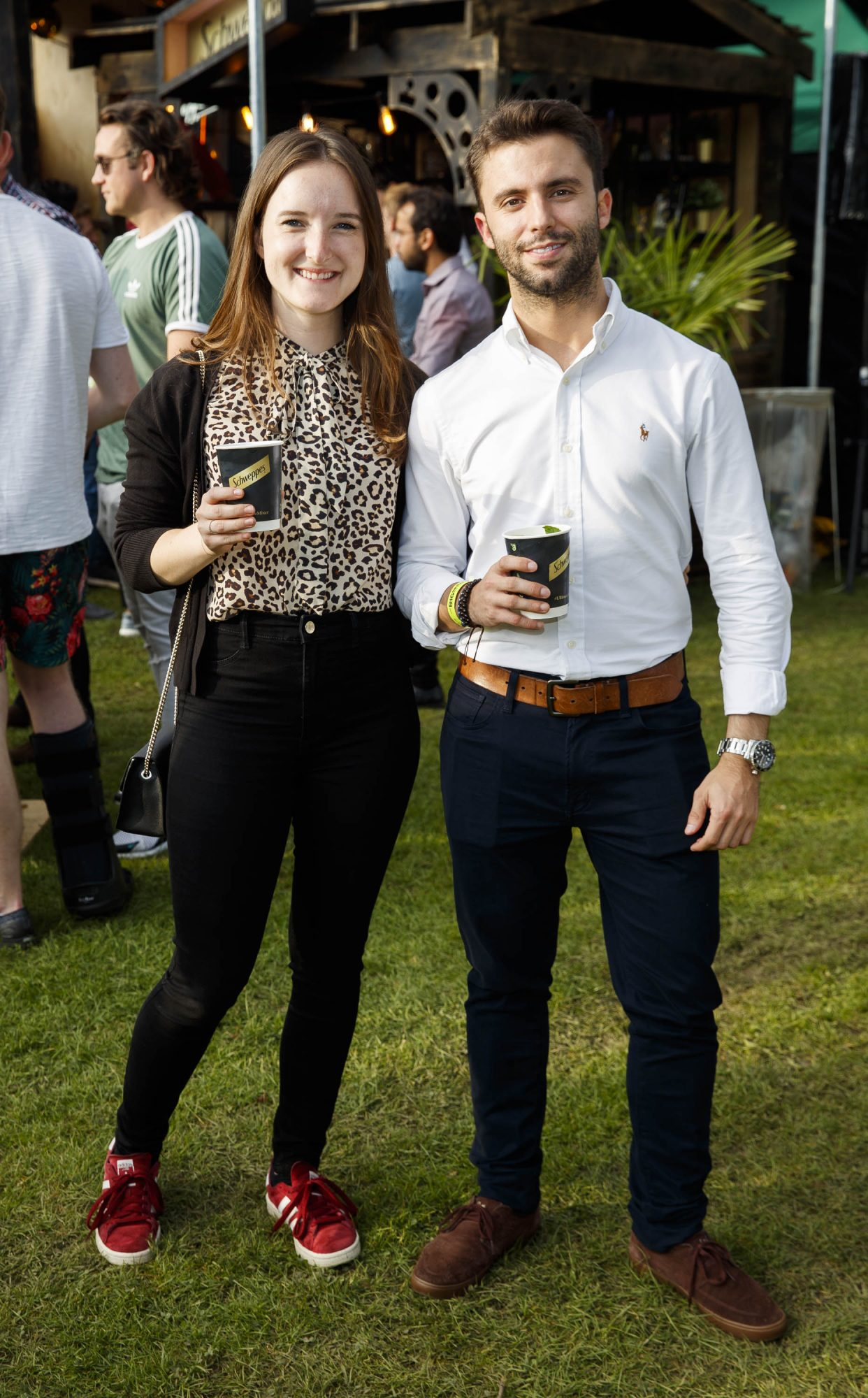 Victoria Kern and Bruno Lorences at the Schweppes #UltimateMixer Sessions at The Big Grill festival in Herbert Park, Dublin, where guests sipped on expertly crafted cocktails and enjoyed live music mixes from Irish bands and DJs. Picture: Andres Poveda