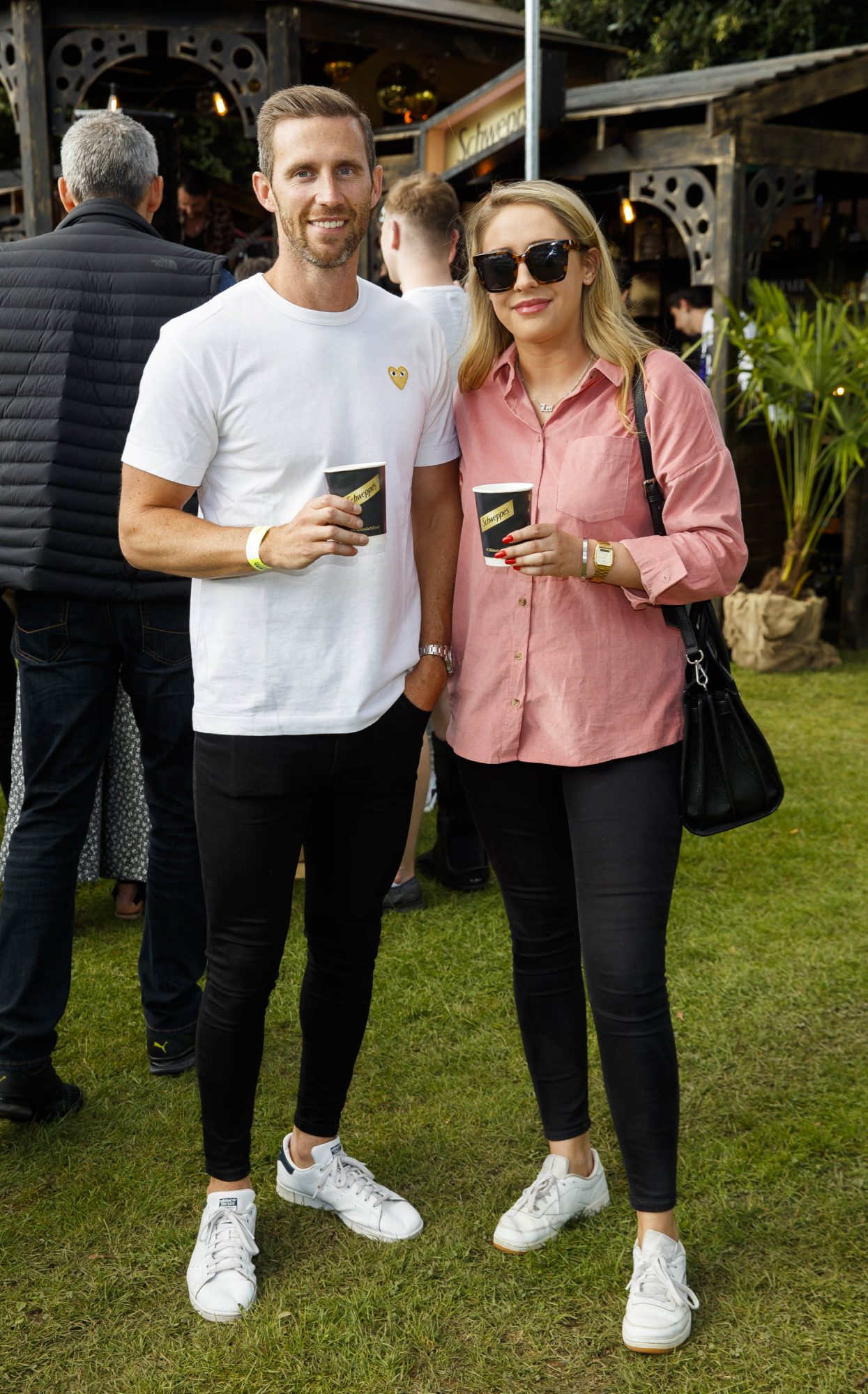 Liam Rusted and Tara Byrnes at the Schweppes #UltimateMixer Sessions at The Big Grill festival in Herbert Park, Dublin, where guests sipped on expertly crafted cocktails and enjoyed live music mixes from Irish bands and DJs. Picture: Andres Poveda