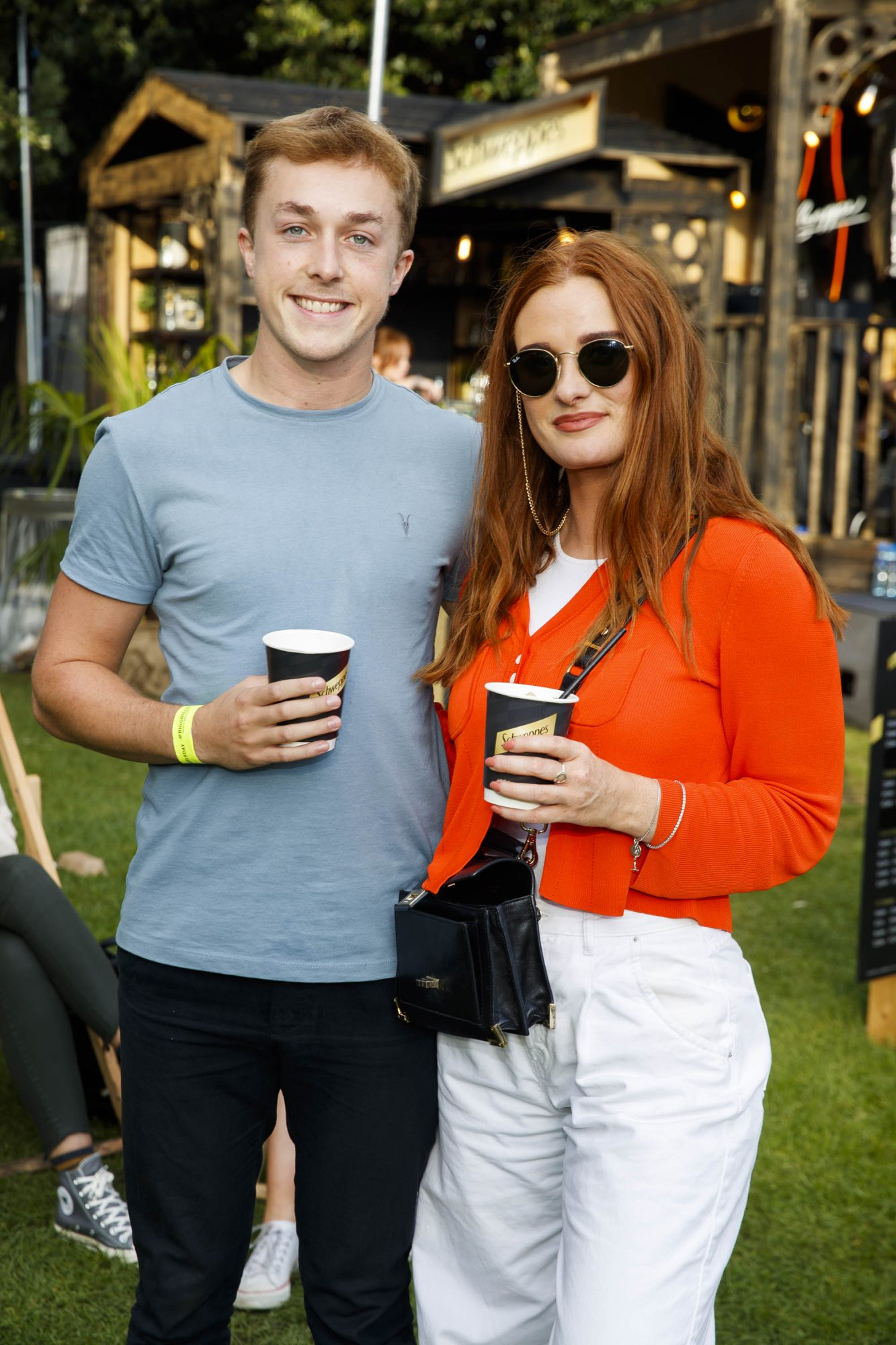 James McDonagh and Roisin O'Dwyer at the Schweppes #UltimateMixer Sessions at The Big Grill festival in Herbert Park, Dublin, where guests sipped on expertly crafted cocktails and enjoyed live music mixes from Irish bands and DJs. Picture: Andres Poveda