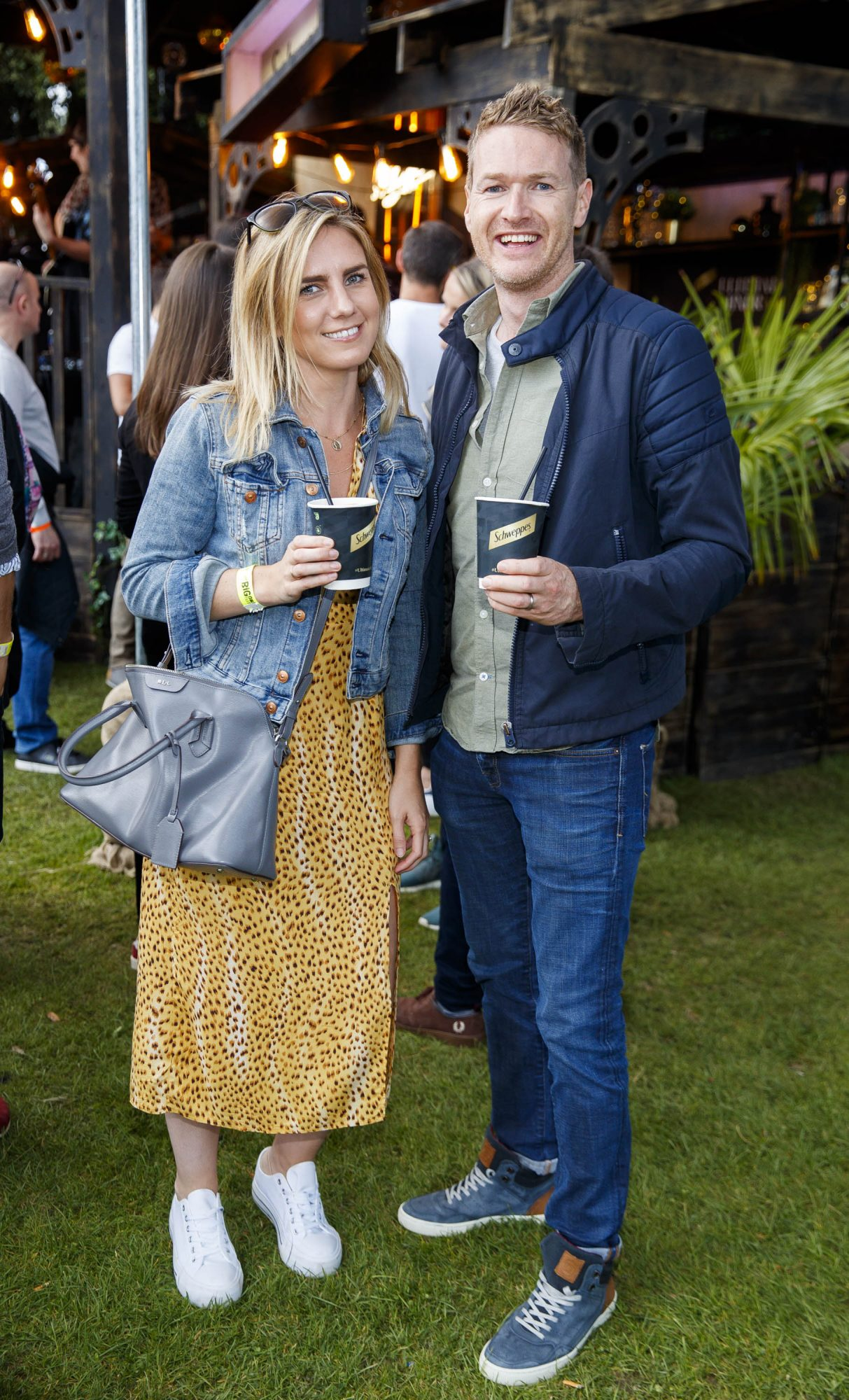 Carol St John and Andy Macken at the Schweppes #UltimateMixer Sessions at The Big Grill festival in Herbert Park, Dublin, where guests sipped on expertly crafted cocktails and enjoyed live music mixes from Irish bands and DJs. Picture: Andres Poveda