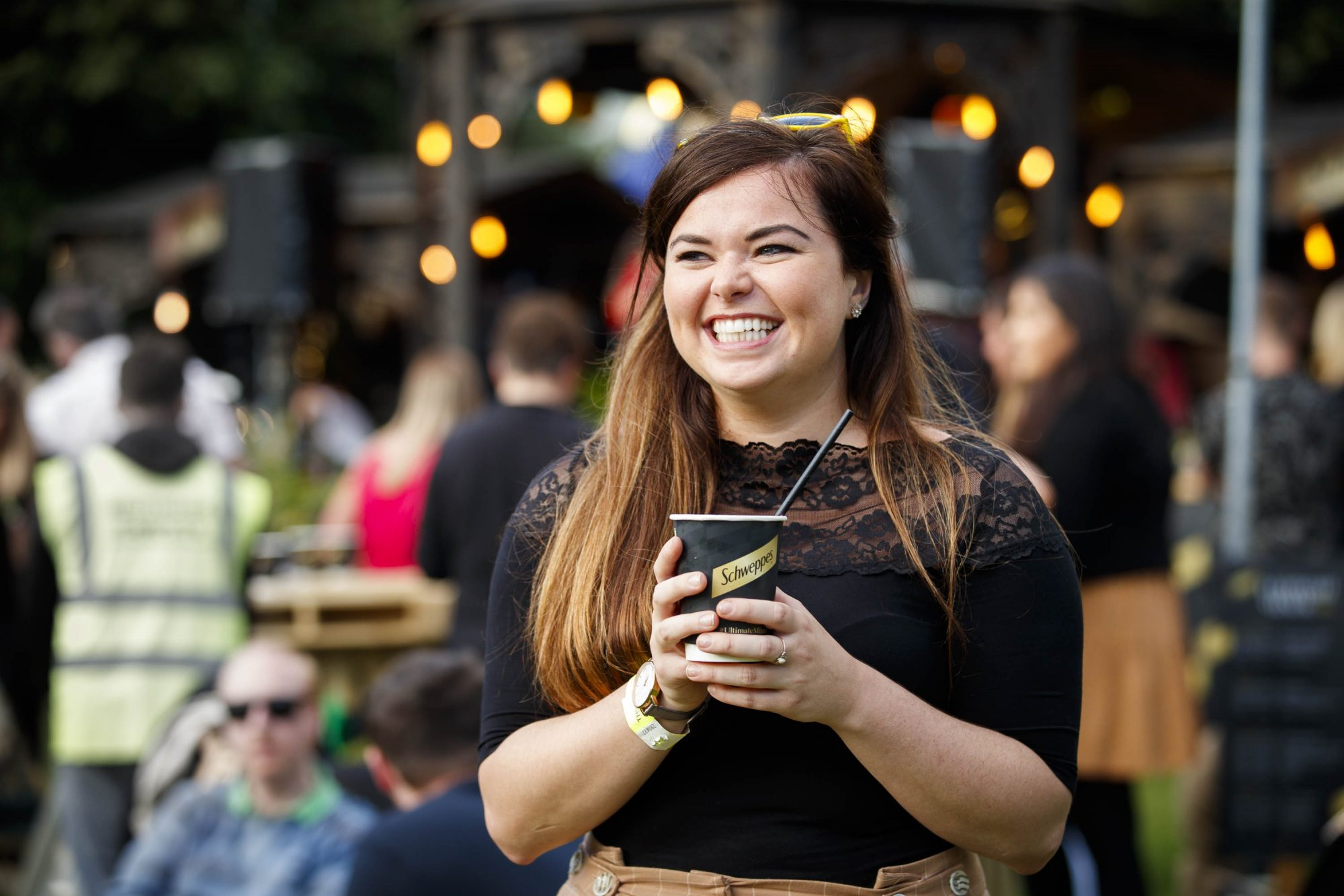 Edel Gray at the Schweppes #UltimateMixer Sessions at The Big Grill festival in Herbert Park, Dublin, where guests sipped on expertly crafted cocktails and enjoyed live music mixes from Irish bands and DJs. Picture: Andres Poveda