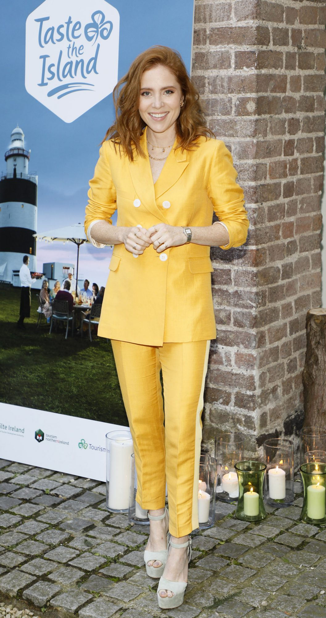 Angela Scanlon at the launch of Taste the Island, a 12 week celebration of Ireland's seasonal ingredients, adventurous tastes and bold experiences taking place this September, October and November. Photo: Kieran Harnett