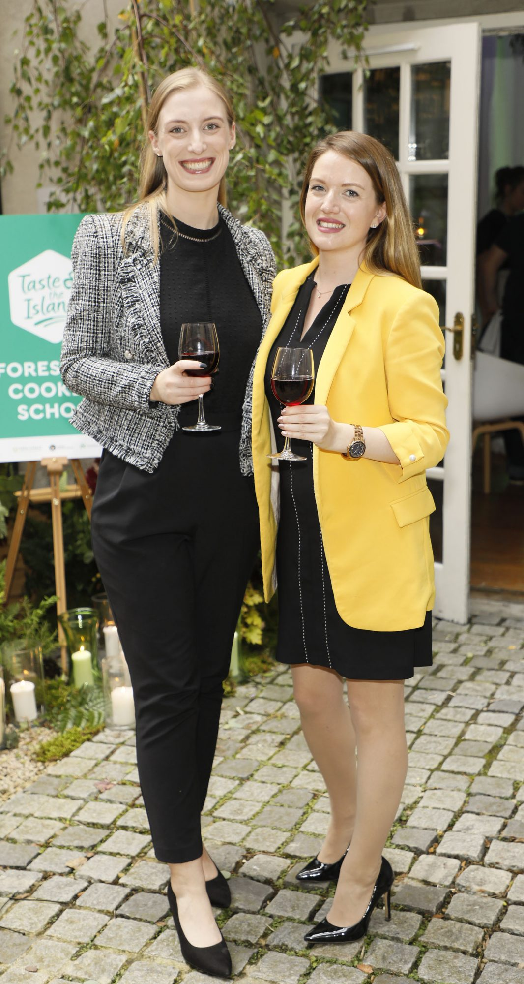 Avril Collins and Katy Walsh at the launch of Taste the Island, a 12 week celebration of Ireland's seasonal ingredients, adventurous tastes and bold experiences taking place this September, October and November. Photo: Kieran Harnett