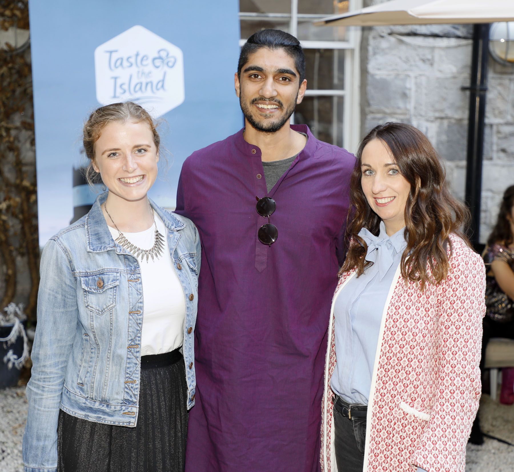 Fiona Cuniffe, Amar Jacob and Nessa Van Rooyan at the launch of Taste the Island, a 12 week celebration of Ireland's seasonal ingredients, adventurous tastes and bold experiences taking place this September, October and November. Photo: Kieran Harnett