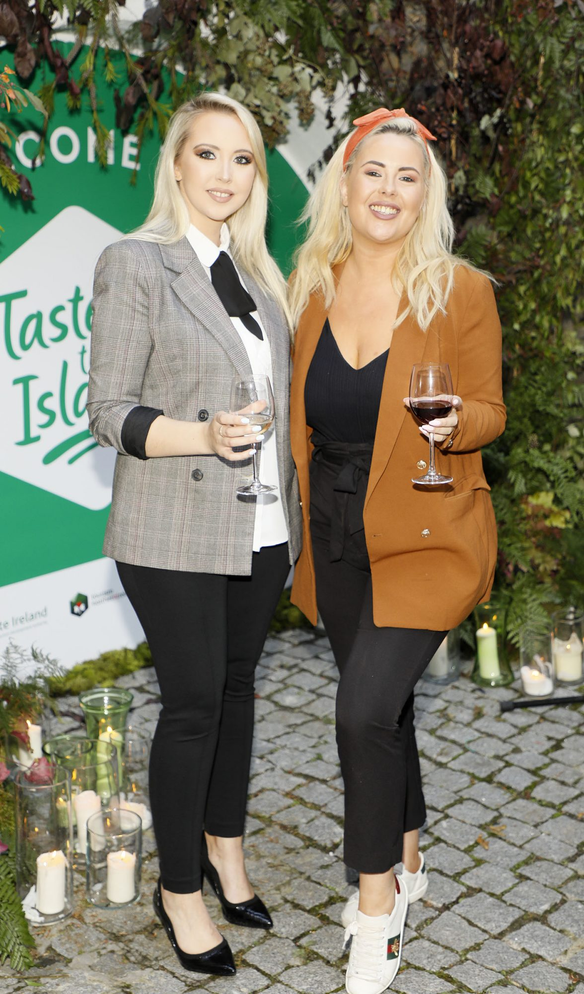 Kendra Becker and Ali Ryan at the launch of Taste the Island, a 12 week celebration of Ireland's seasonal ingredients, adventurous tastes and bold experiences taking place this September, October and November. Photo: Kieran Harnett