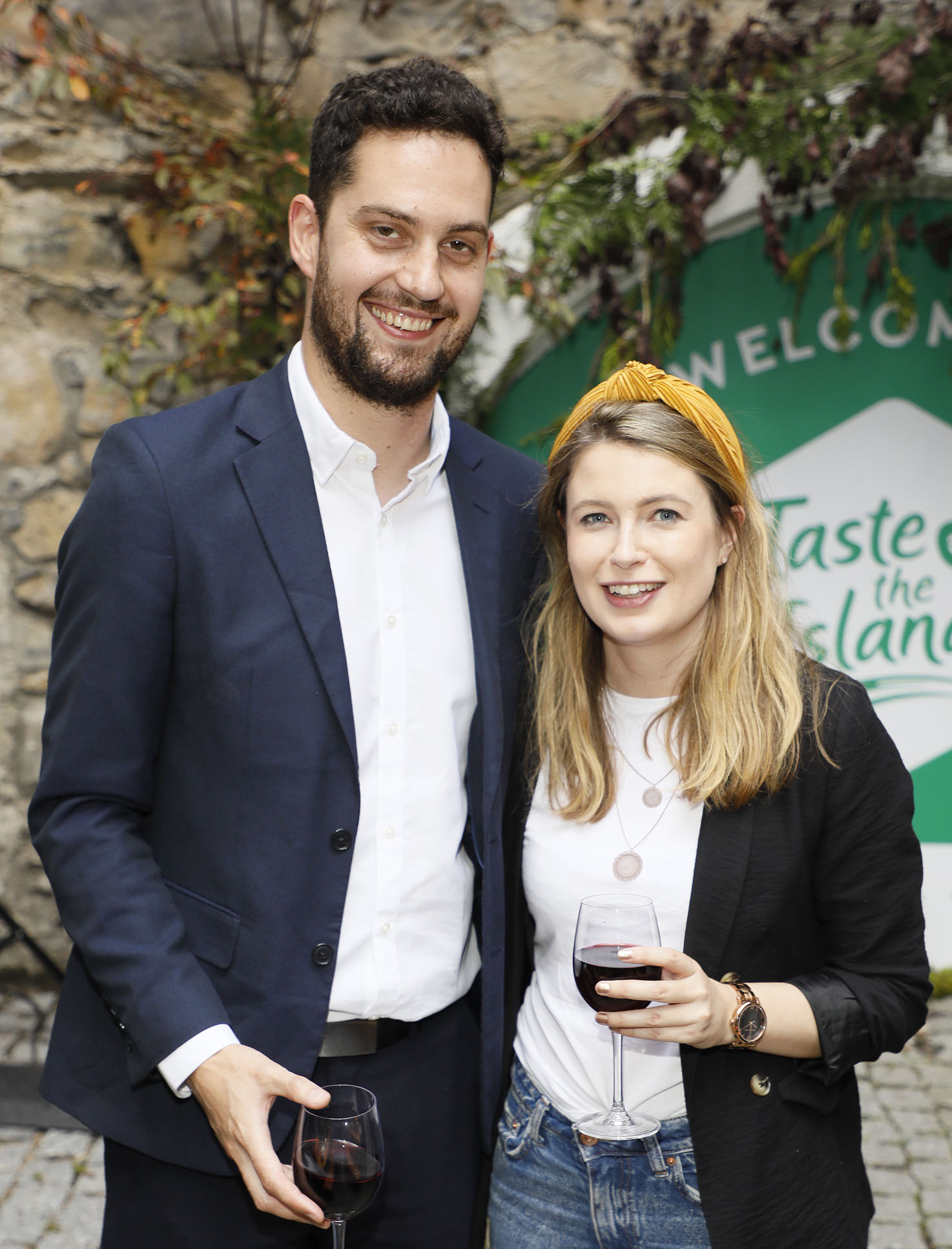 Kevin Meighan and Hannah Popham at the launch of Taste the Island, a 12 week celebration of Ireland's seasonal ingredients, adventurous tastes and bold experiences taking place this September, October and November. Photo: Kieran Harnett