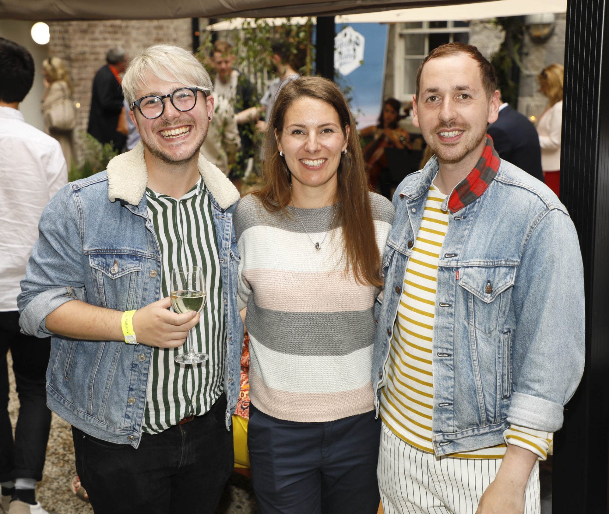Russell Alford, Eva Burg and Patrick Hanlon at the launch of Taste the Island, a 12 week celebration of Ireland's seasonal ingredients, adventurous tastes and bold experiences taking place this September, October and November. Photo: Kieran Harnett