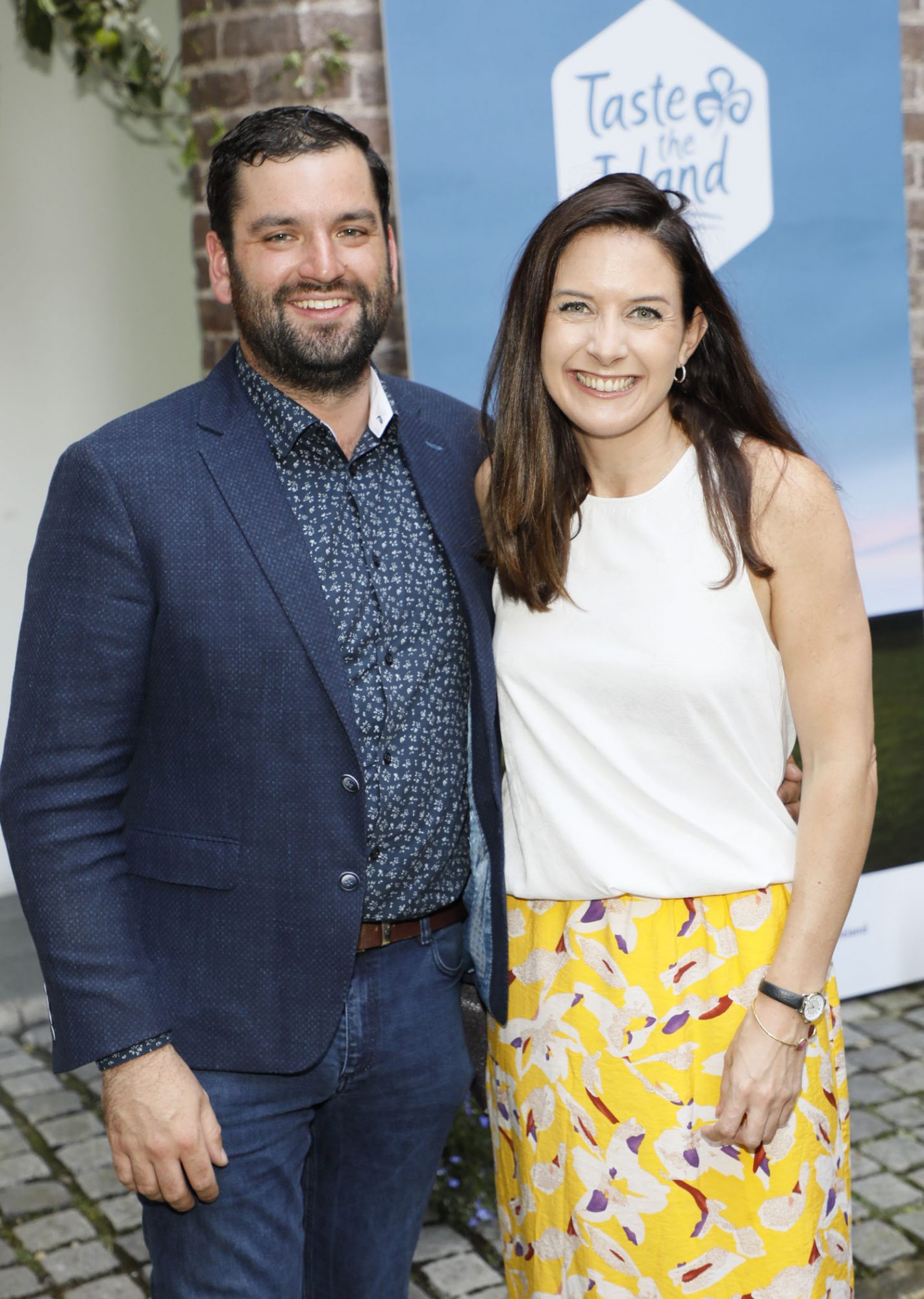 Thomas Maguire and Ruth Noble at the launch of Taste the Island, a 12 week celebration of Ireland's seasonal ingredients, adventurous tastes and bold experiences taking place this September, October and November. Photo: Kieran Harnett