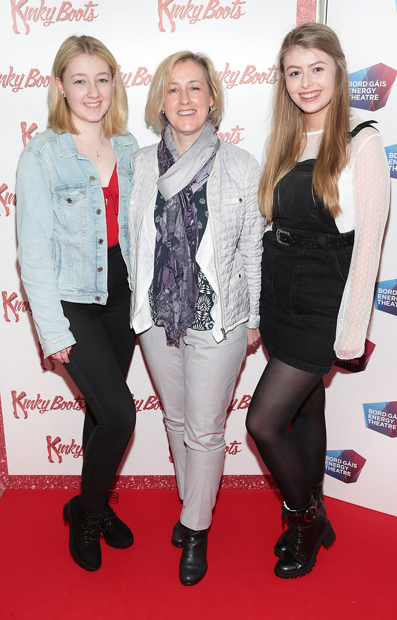 Aoife Kavanagh, Lisa Kavanagh and Sarah Kavanagh at the opening of the musical Kinky Boots at the Bord Gais Energy Theatre, Dublin.  Picture: Brian McEvoy