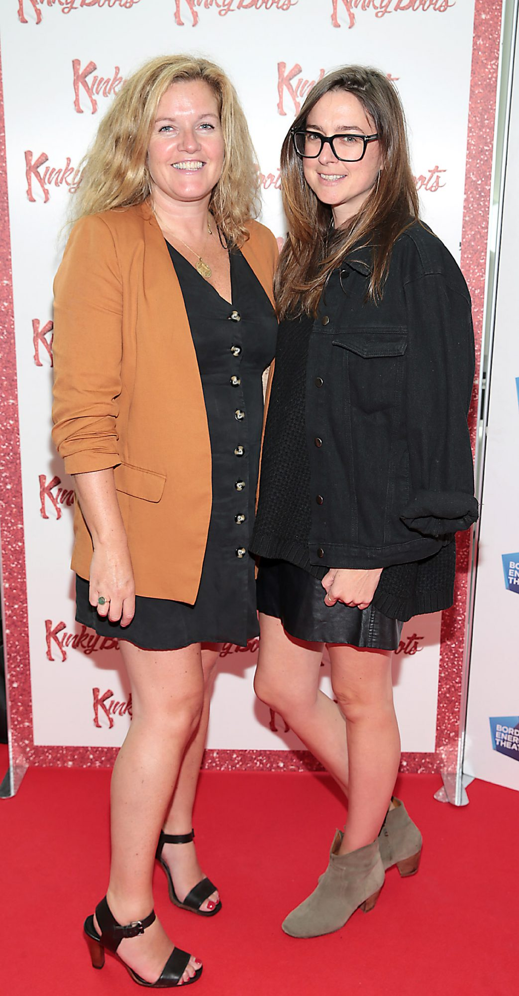 Lynne Hunter and Kellie O Rourke at the opening of the musical Kinky Boots at the Bord Gais Energy Theatre, Dublin.  Picture: Brian McEvoy