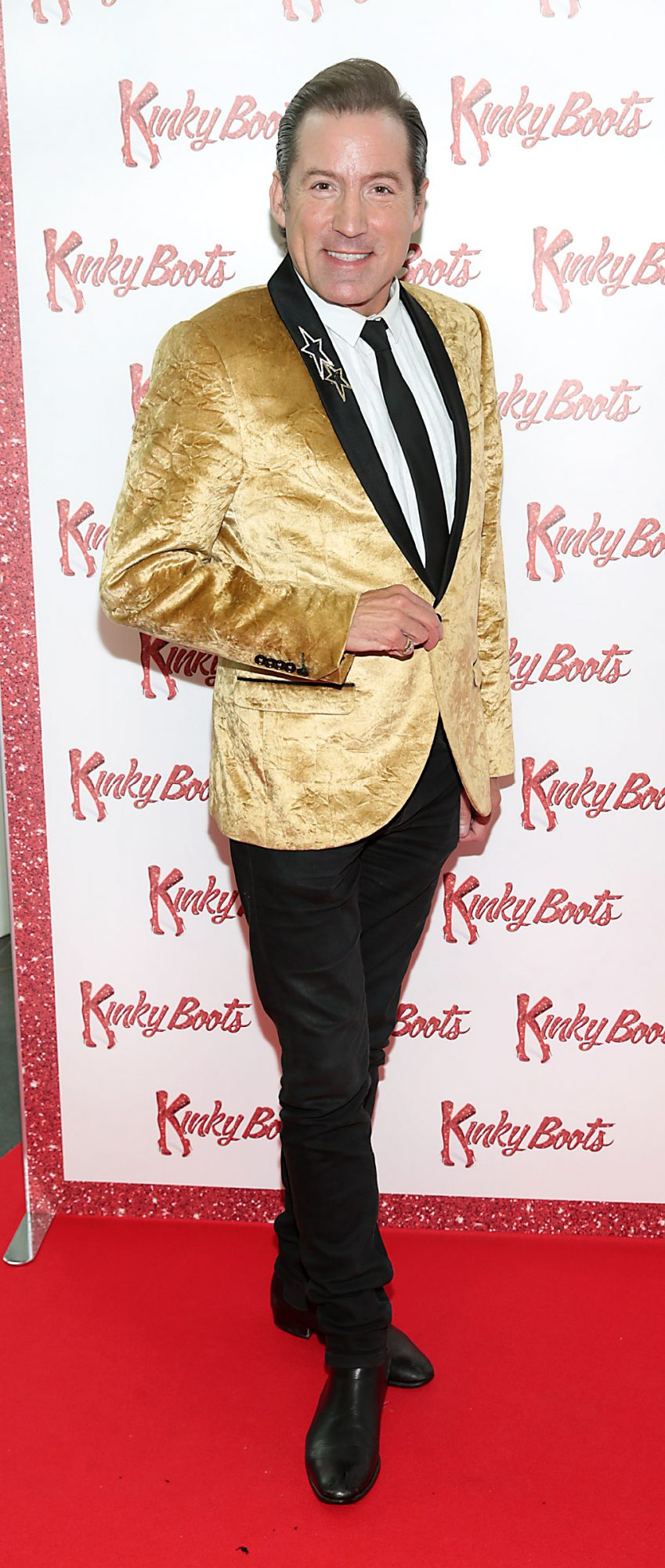 Julian Benson at the opening of the musicalKinky Boots at the Bord Gais Energy Theatre, Dublin.  Picture: Brian McEvoy