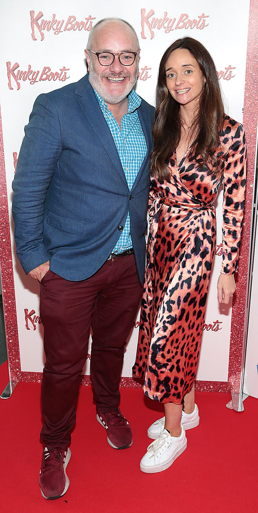 Stephen Faloon and Claire Whelan at the opening of the musical Kinky Boots at the Bord Gais Energy Theatre, Dublin.  Picture: Brian McEvoy