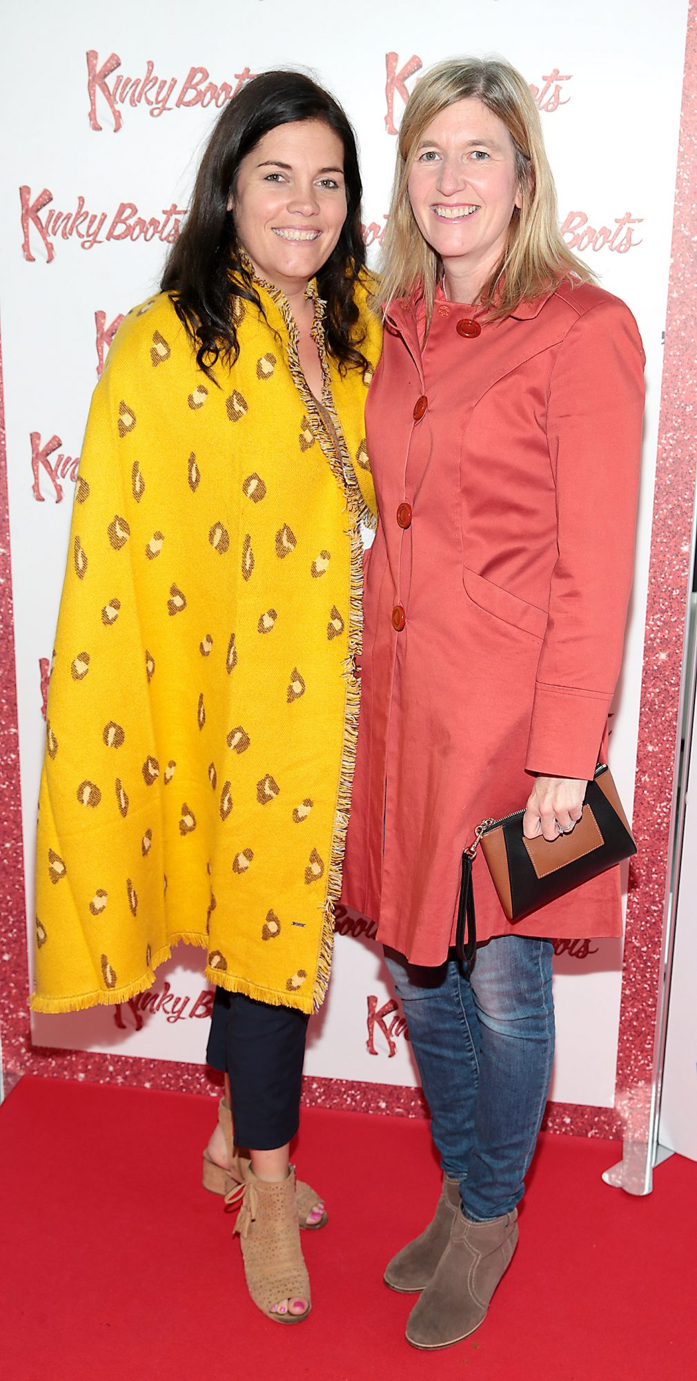 Emer Ryan and Lorraine Allen at the opening of the musical Kinky Boots at the Bord Gais Energy Theatre, Dublin.  Picture: Brian McEvoy
