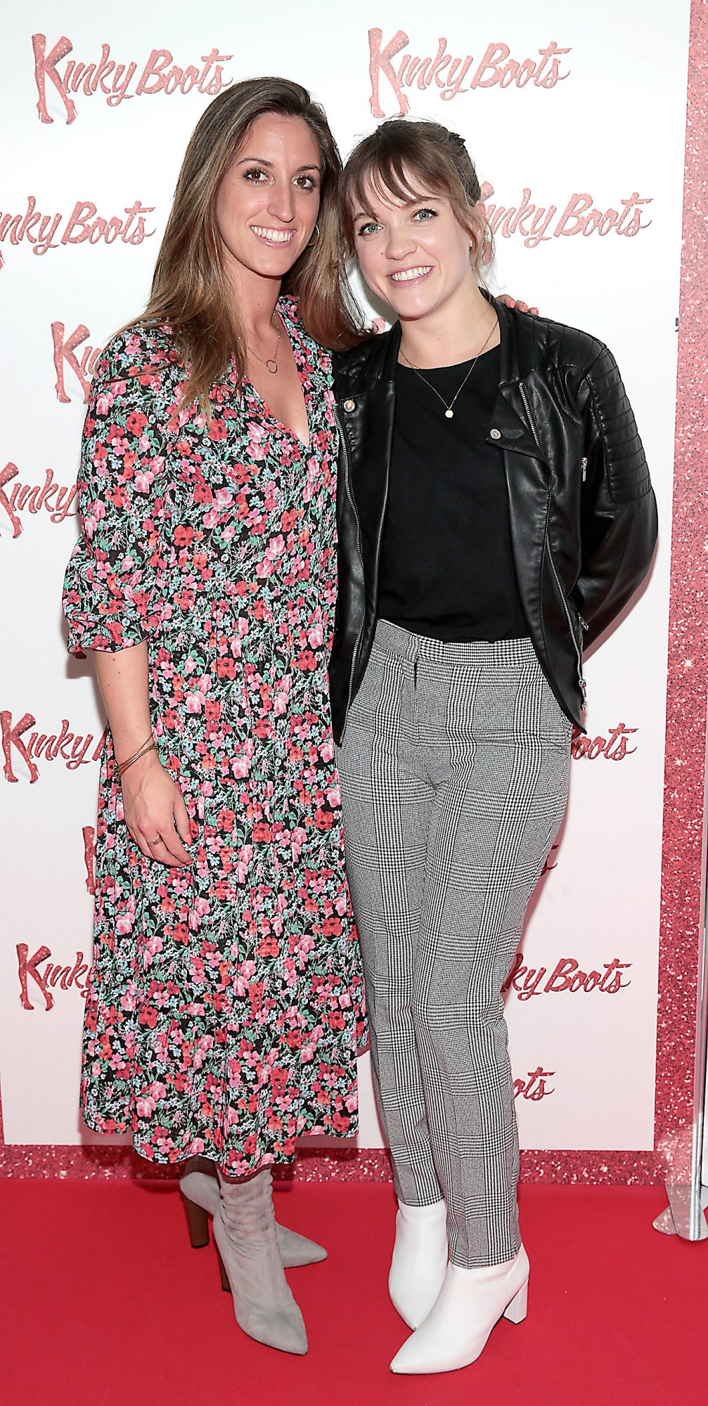 Jessica Whelan and Alexandra Dent at the opening of the musical Kinky Boots at the Bord Gais Energy Theatre, Dublin.  Picture: Brian McEvoy