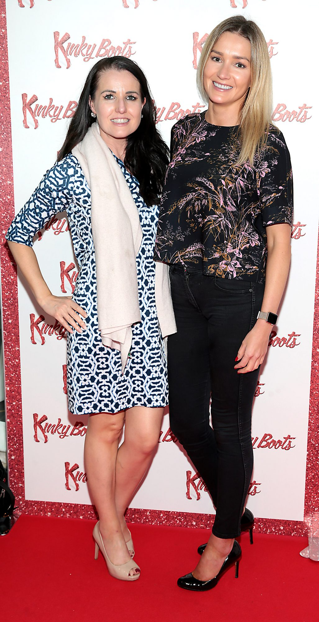 Marie Louise Heavey and Jennifer Lee at the opening of the musical Kinky Boots at the Bord Gais Energy Theatre, Dublin.  Picture: Brian McEvoy