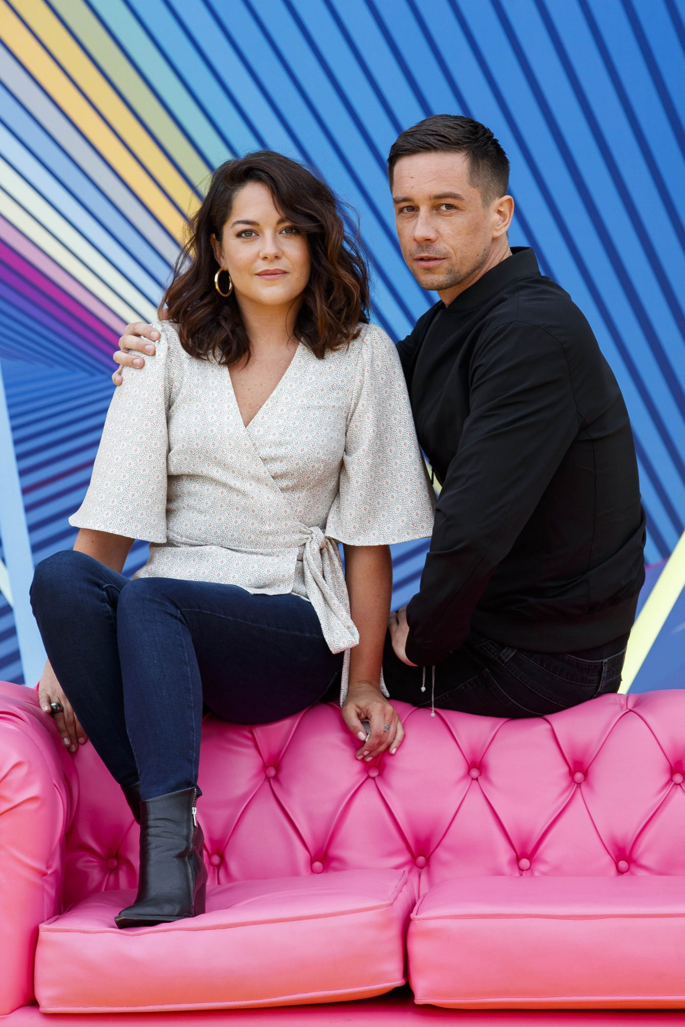 """Sarah Greene and Killian Scott, """"Dublin Murders"""" as RTÉ today announced a slate of new impactful Irish programming, star signings and a strong focus on climate as part of its upcoming new season. Picture: Andres Poveda"""