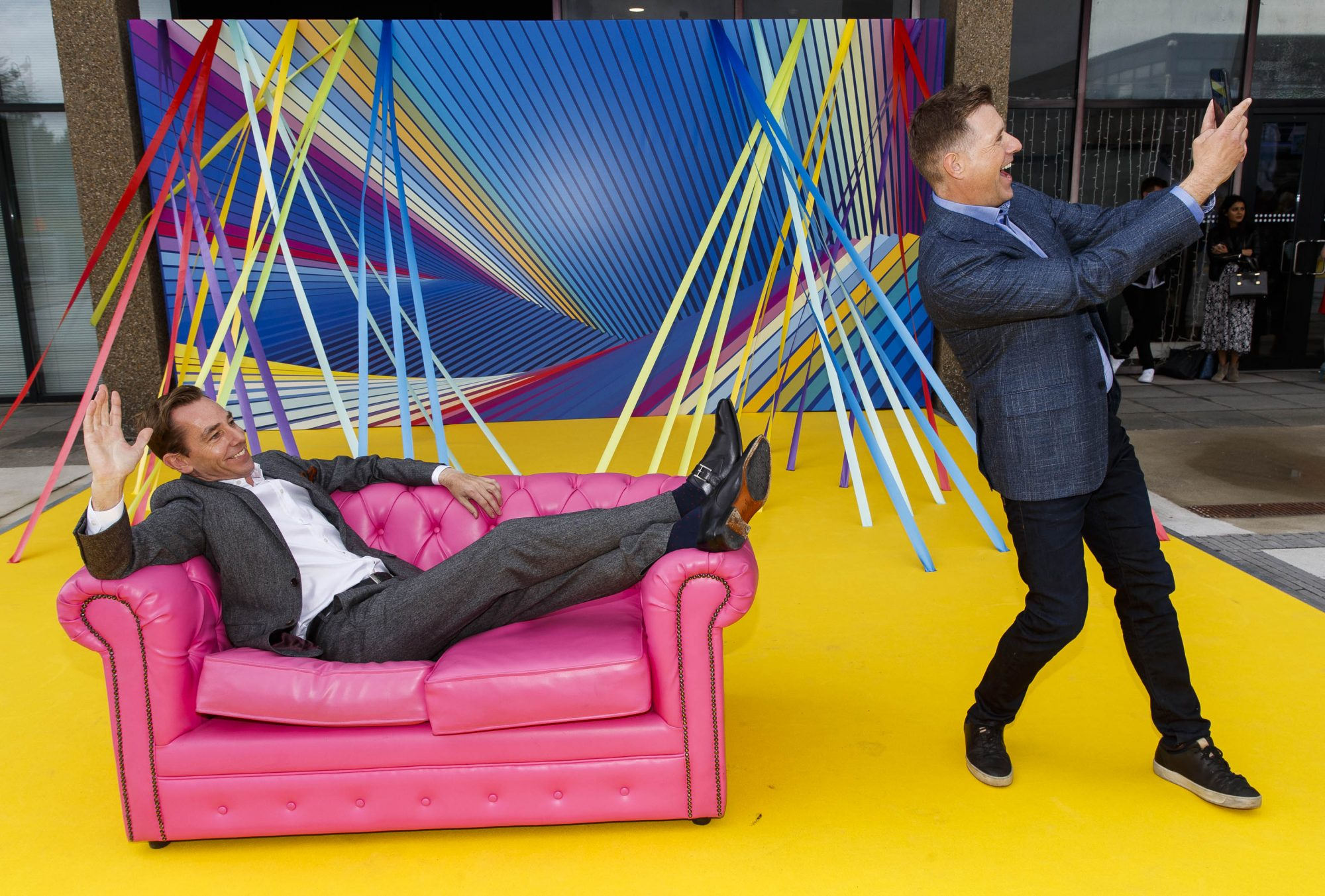 Ryan Tubridy and Dermot Bannon pictured as RTÉ today announced a slate of new impactful Irish programming, star signings and a strong focus on climate as part of its upcoming new season. Picture: Andres Poveda