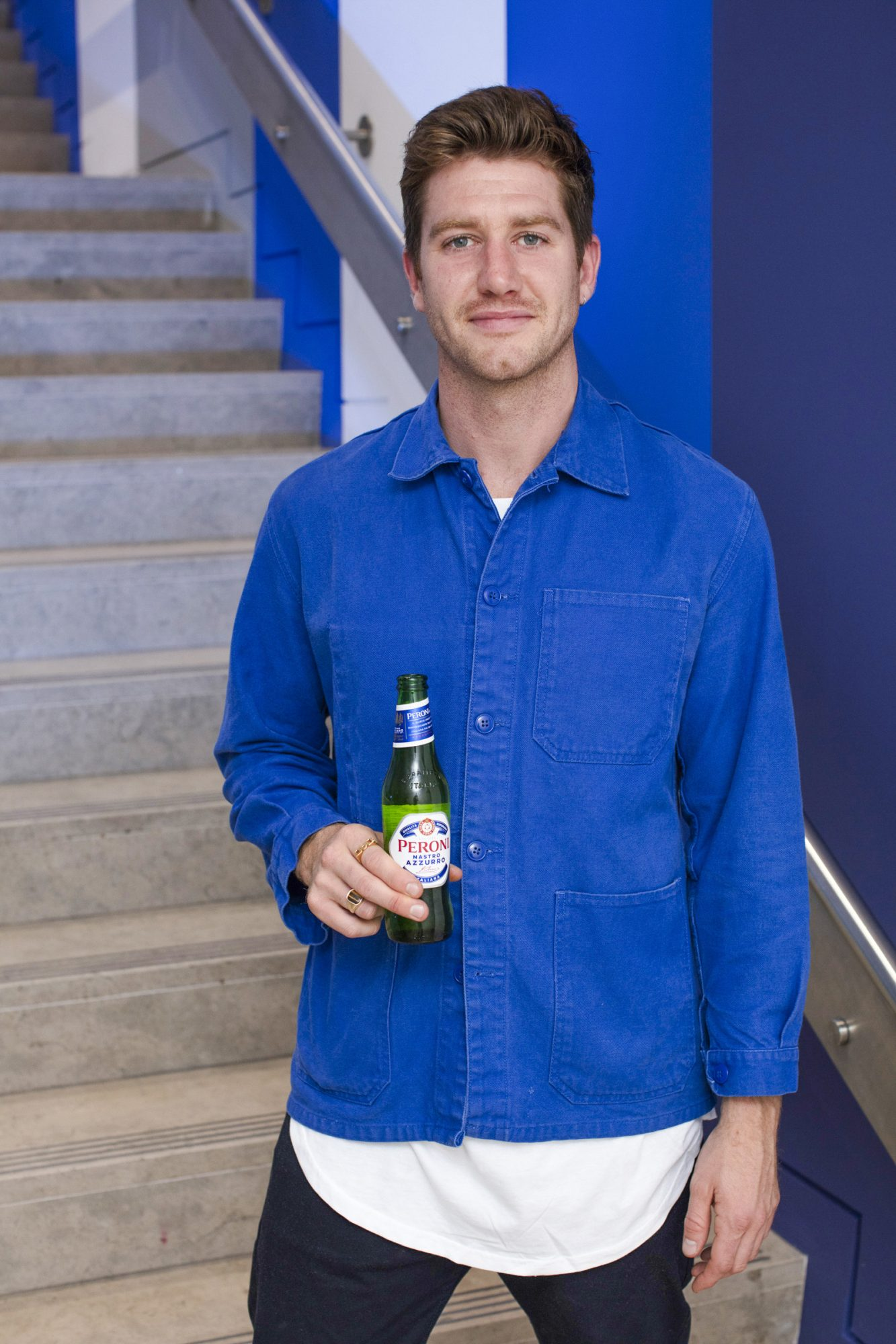 Ciaran Storey pictured at the launch of The House of Peroni, which is open at the RHA in Dublin until Sunday, 1st September 2019. This year's residency sees the RHA transformed into a stylish Peroni inspired experience, filled with food, drink and design. www.thehouseofperoni.com Photo: Anthony Woods.