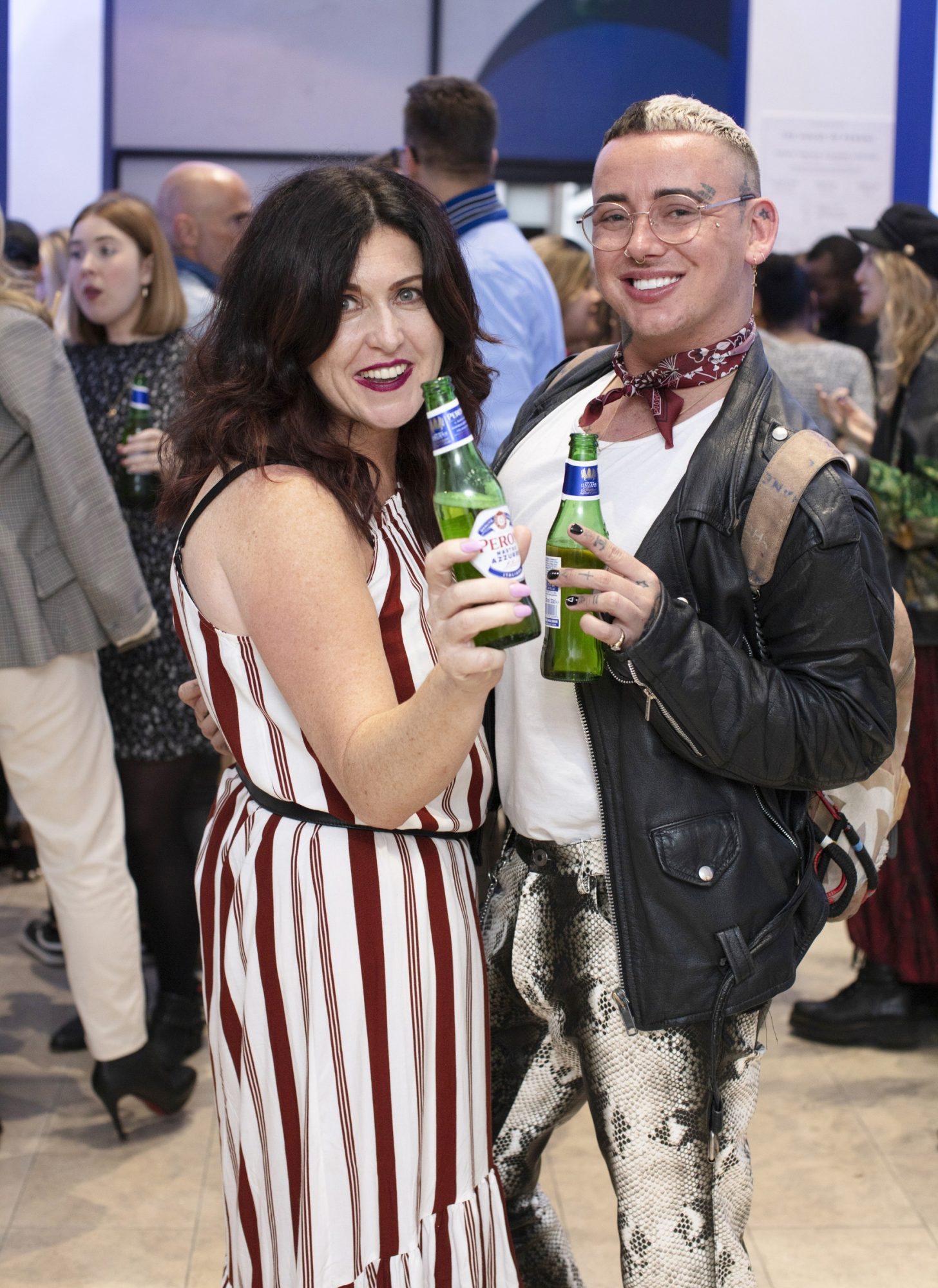 Hillary O'Reilly & Jordan Dunbar pictured at the launch of The House of Peroni, which is open at the RHA in Dublin until Sunday, 1st September 2019. This year's residency sees the RHA transformed into a stylish Peroni inspired experience, filled with food, drink and design. www.thehouseofperoni.com Photo: Anthony Woods.