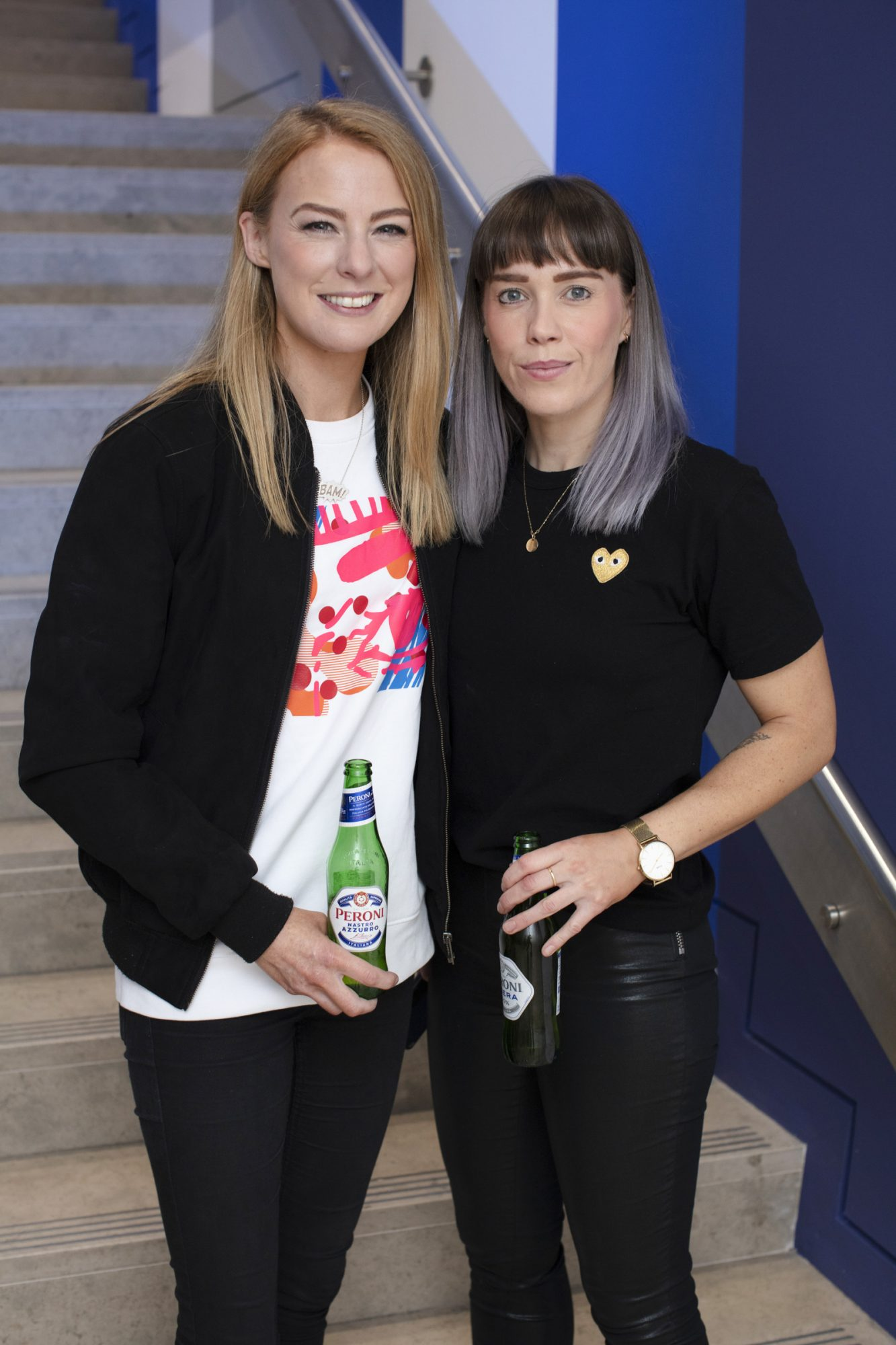 Jill Deering & Gill Henderson pictured at the launch of The House of Peroni, which is open at the RHA in Dublin until Sunday, 1st September 2019. This year's residency sees the RHA transformed into a stylish Peroni inspired experience, filled with food, drink and design. www.thehouseofperoni.com Photo: Anthony Woods.