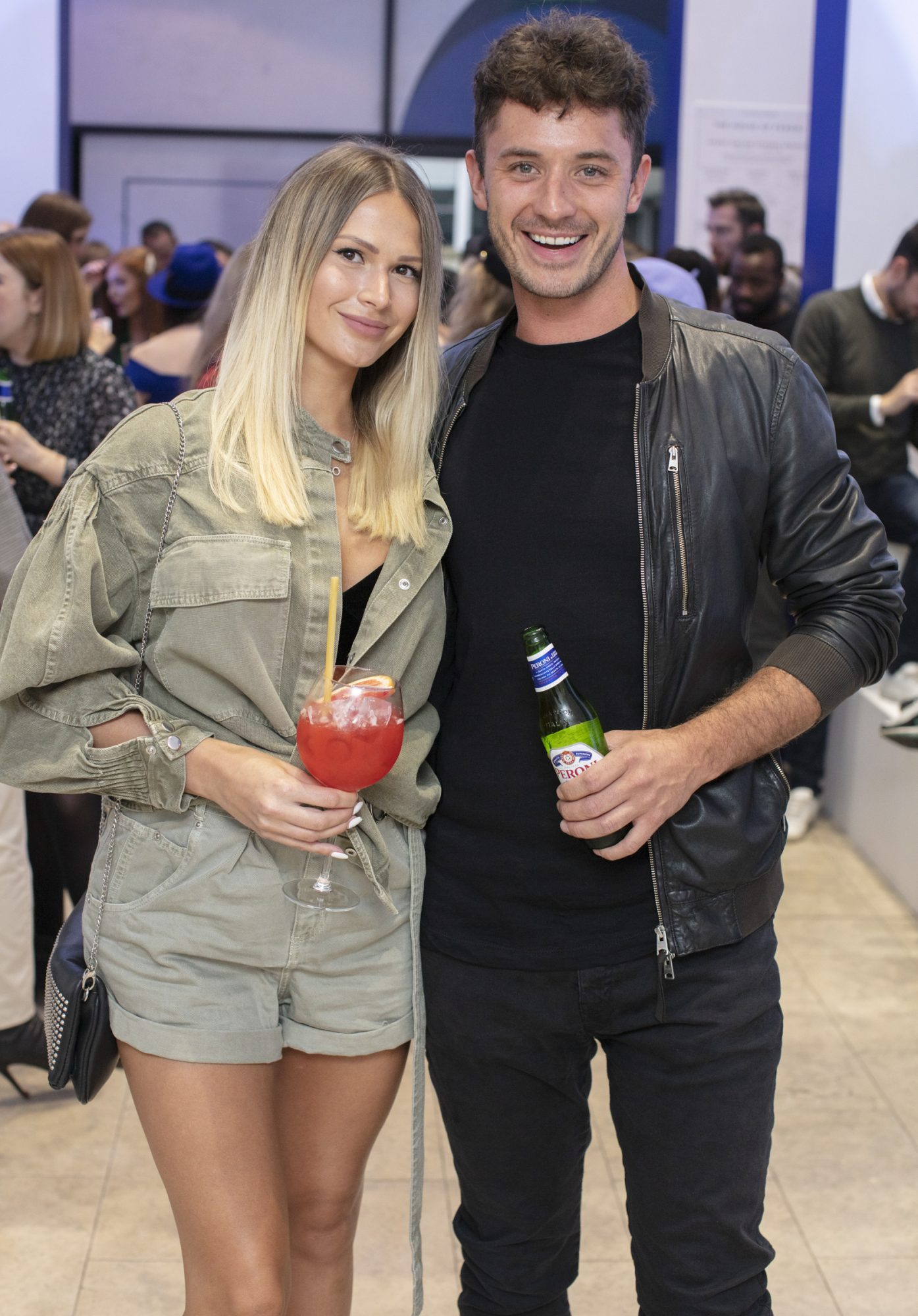 Phil Costello & Svetlana Jersova pictured at the launch of The House of Peroni, which is open at the RHA in Dublin until Sunday, 1st September 2019. This year's residency sees the RHA transformed into a stylish Peroni inspired experience, filled with food, drink and design. www.thehouseofperoni.com Photo: Anthony Woods.