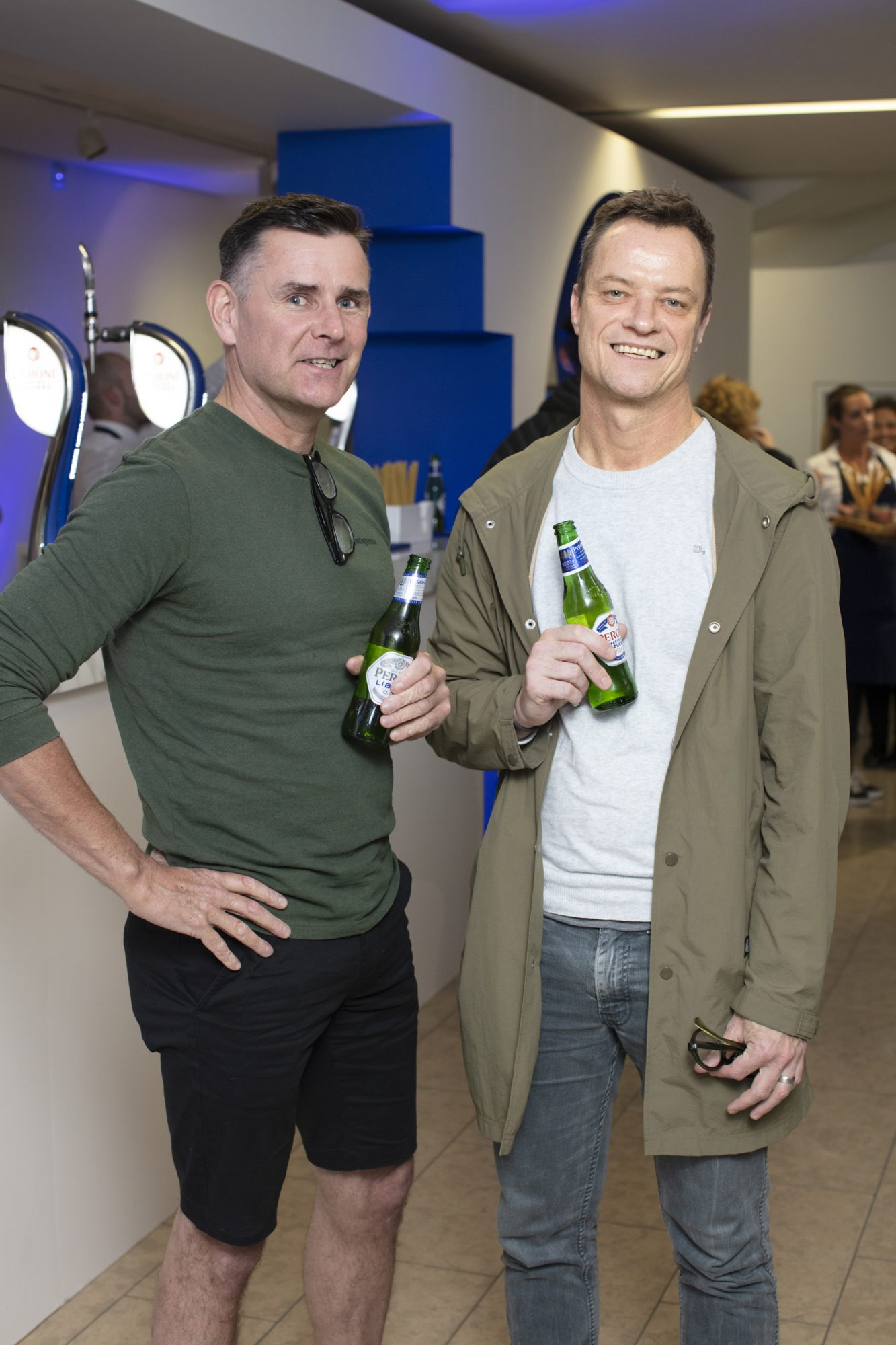Shane Kinsella & Rory O'Neill pictured at the launch of The House of Peroni, which is open at the RHA in Dublin until Sunday, 1st September 2019. This year's residency sees the RHA transformed into a stylish Peroni inspired experience, filled with food, drink and design. www.thehouseofperoni.com Photo: Anthony Woods.