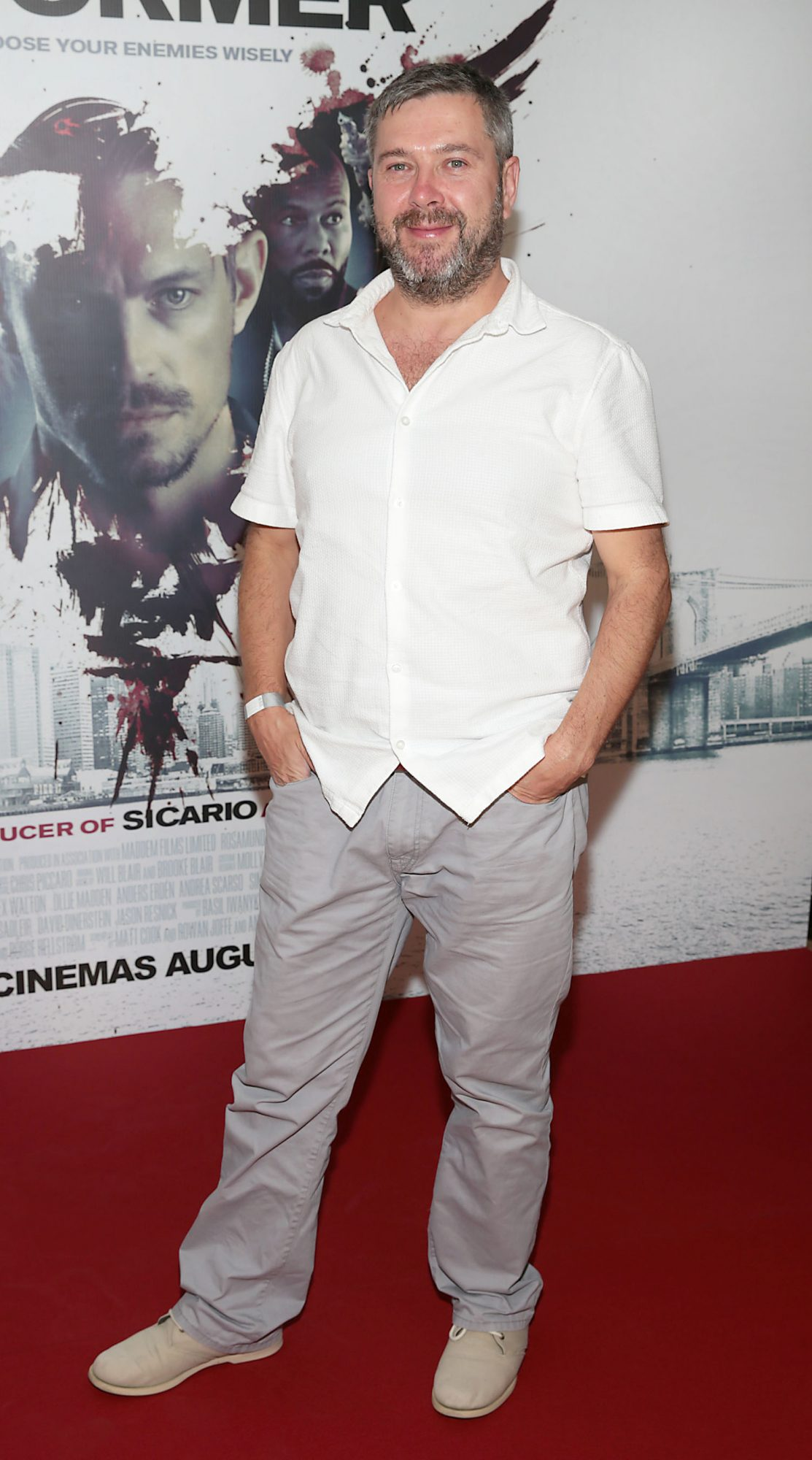 Andy Matuszwska at the special preview screening of The Informer at the Lighthouse Cinema Dublin. Pic: Brian McEvoy