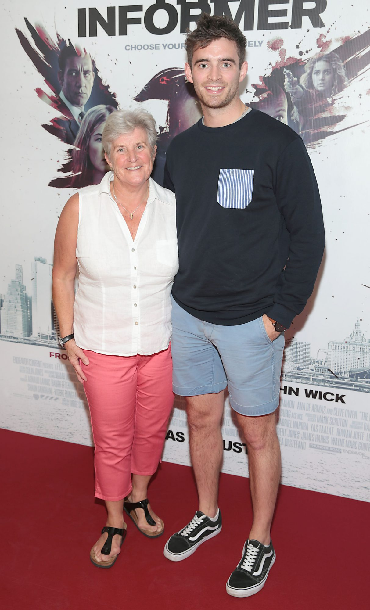 Ciara Collins and Peter Collins at the special preview screening of The Informer at the Lighthouse Cinema Dublin. Pic: Brian McEvoy