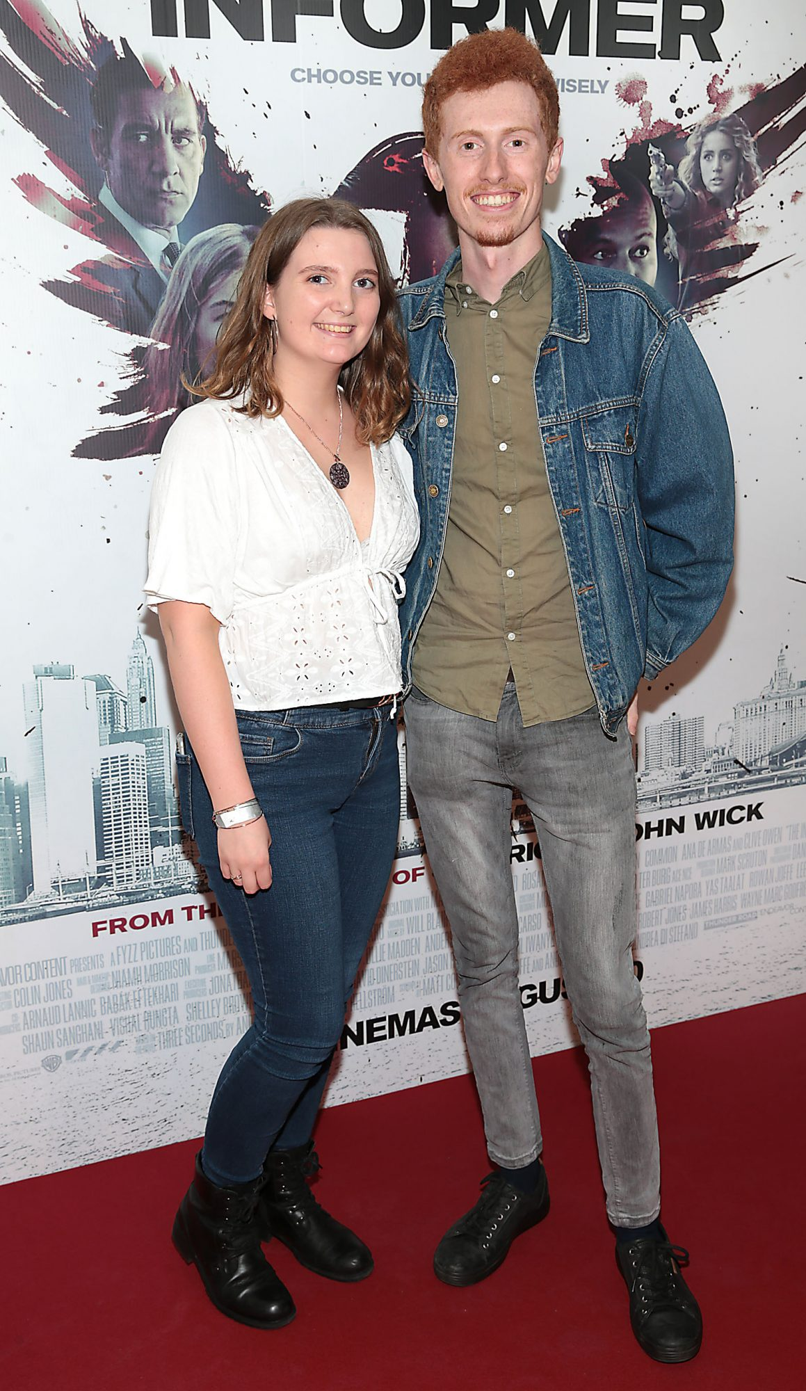 Leah Casey and Sean Casey at the special preview screening of The Informer at the Lighthouse Cinema Dublin. Pic: Brian McEvoy