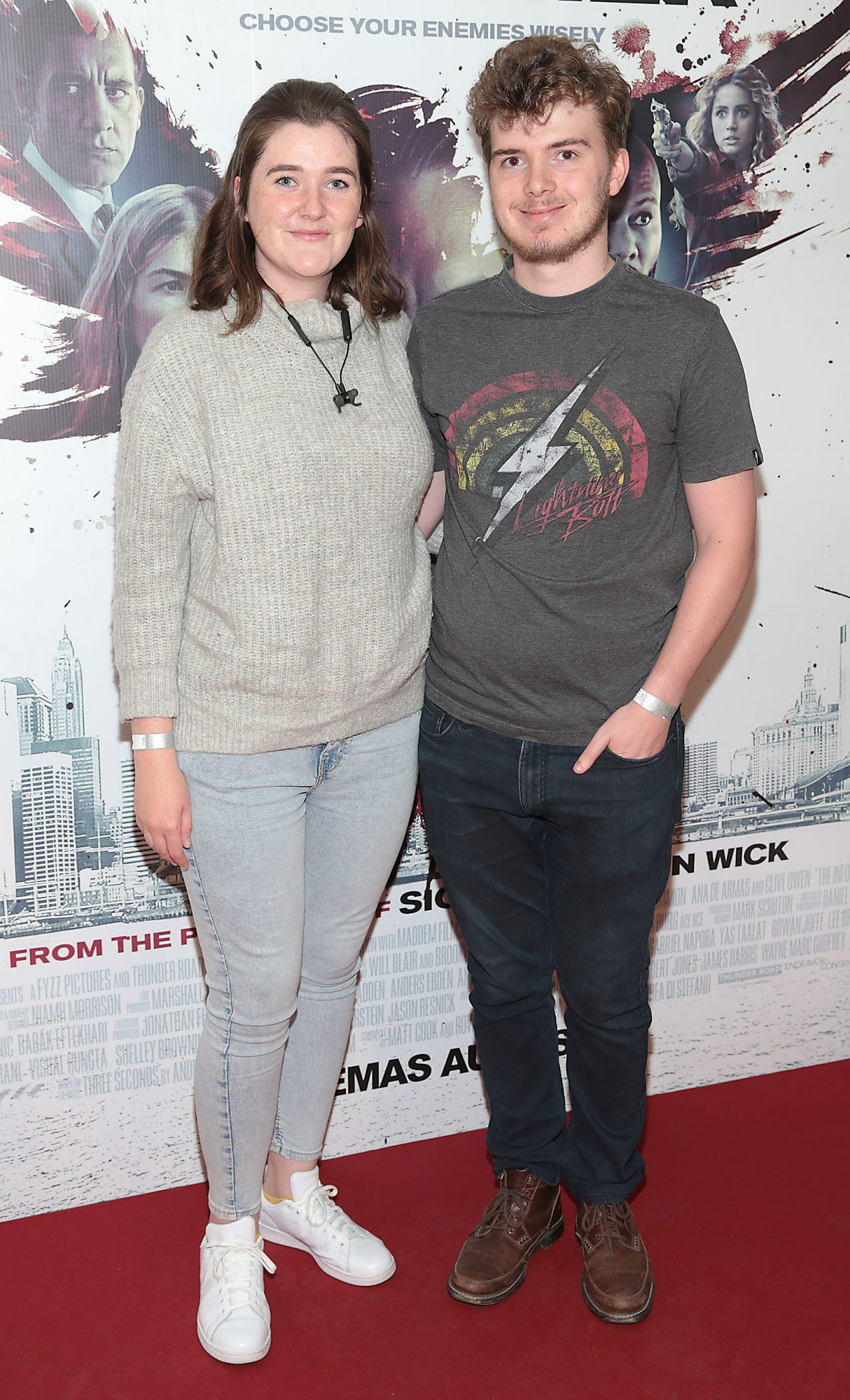 Susan Kelly and Nicky Casey at the special preview screening of The Informer at the Lighthouse Cinema Dublin. Pic: Brian McEvoy