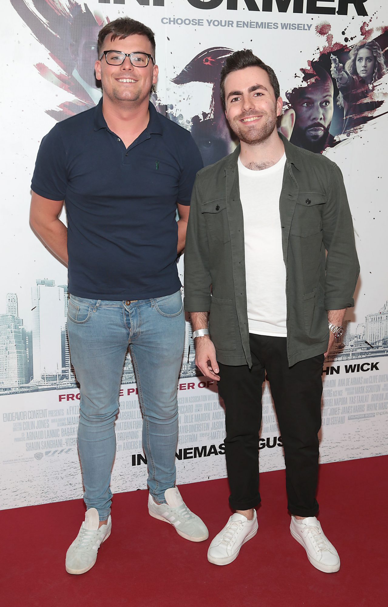 Dan Wilson and Jamie Skerrett at the special preview screening of The Informer at the Lighthouse Cinema Dublin. Pic: Brian McEvoy