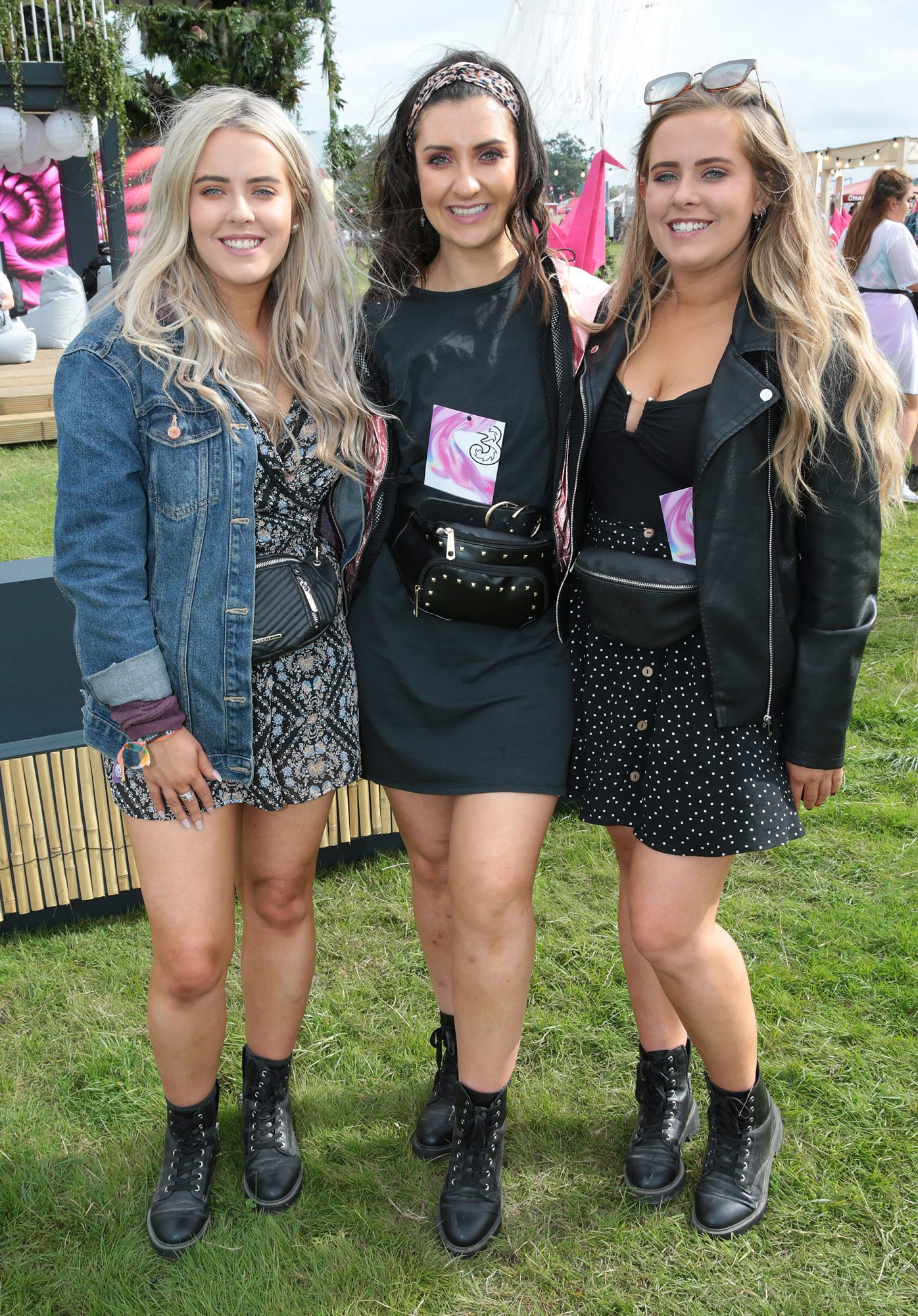 Megan Dunne, Jenny Ratigan and Lauren Dunne, from Navan, Co. Meath, at Three's Charge & Chill at Electric Picnic at Stradbally, Co. Laois. Picture: Brian McEvoyNo Repro fee for one use