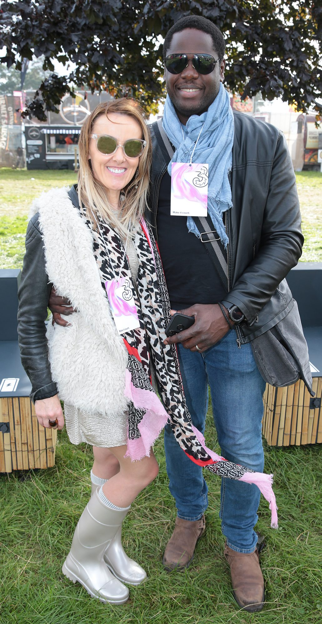 Sharon Kennedy and Mo Yansane at Three's Charge & Chill at Electric Picnic at Stradbally, Co. Laois. Picture: Brian McEvoyNo Repro fee for one use