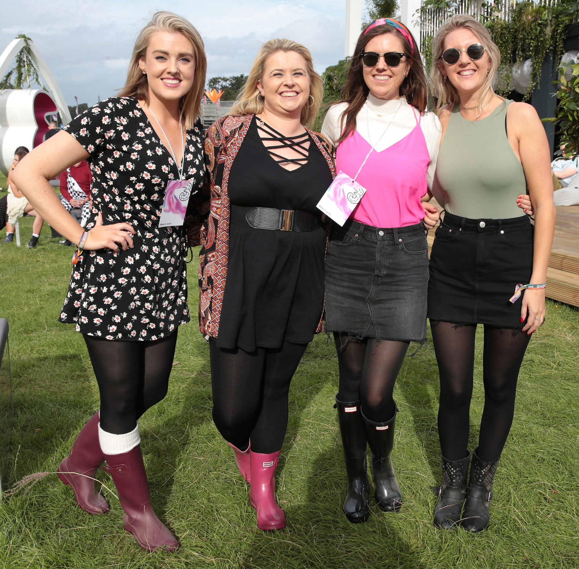 Alison Cox, Elizabeth Keenan, Joanne Campbell and Aisling Buckley at Three's Charge & Chill at Electric Picnic at Stradbally, Co. Laois. Picture: Brian McEvoyNo Repro fee for one use