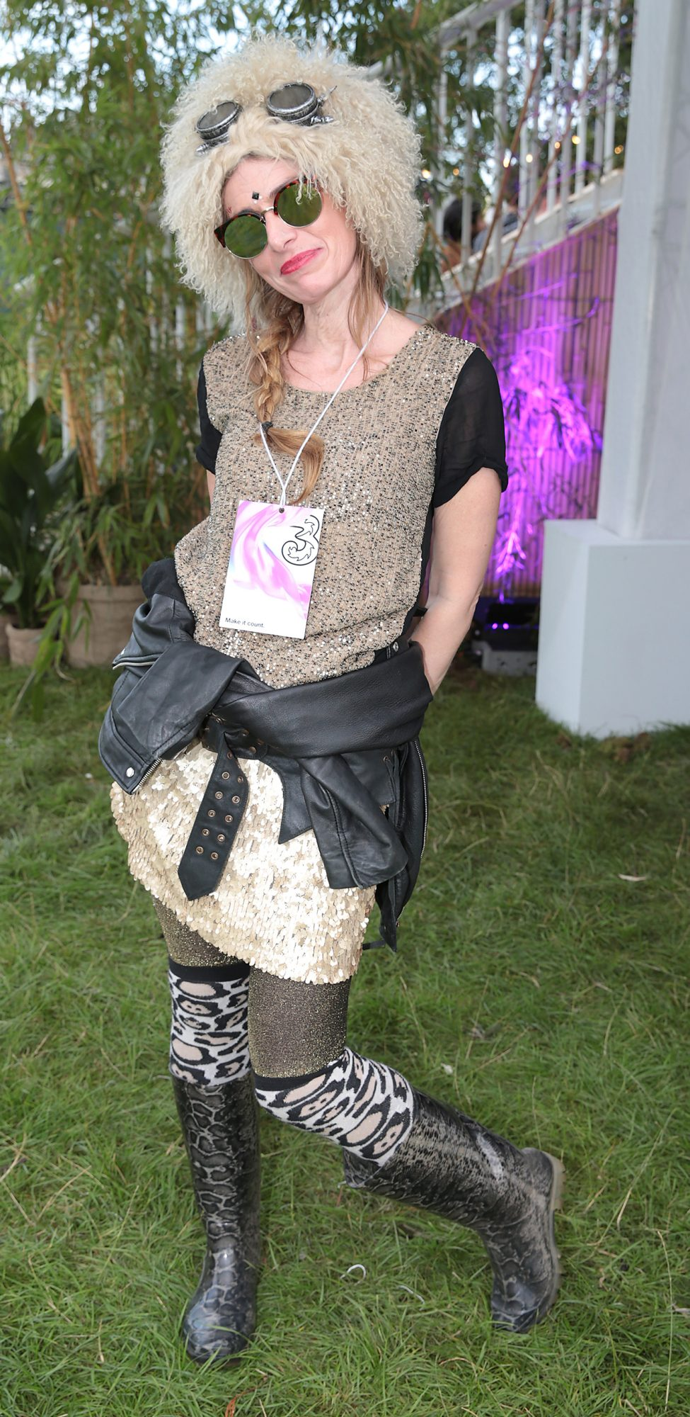 Sinead Morgan, from Dublin, at Three's Charge & Chill at Electric Picnic at Stradbally, Co. Laois. Picture: Brian McEvoyNo Repro fee for one use