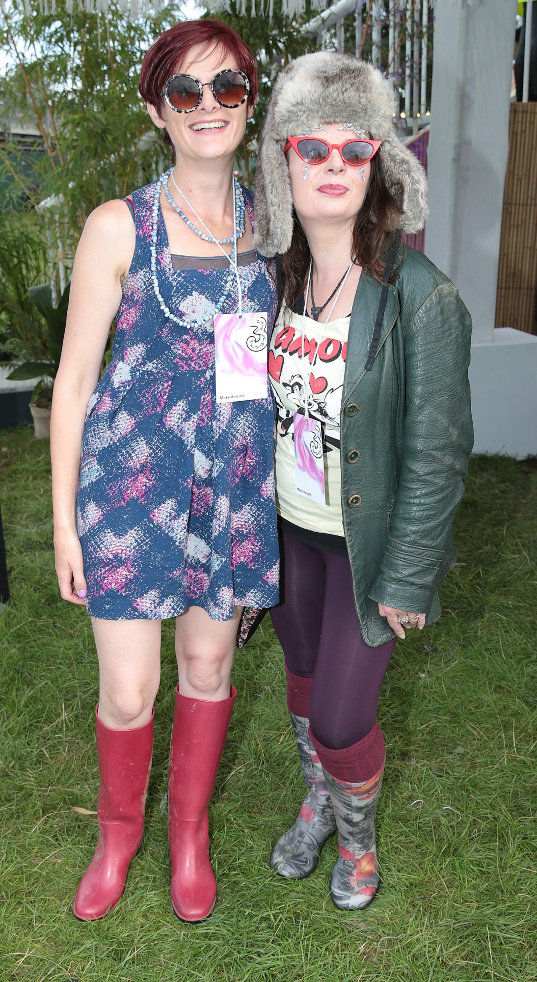 Therese Morgan and Cara Lynch at Three's Charge & Chill at Electric Picnic at Stradbally, Co. Laois. Picture: Brian McEvoyNo Repro fee for one use