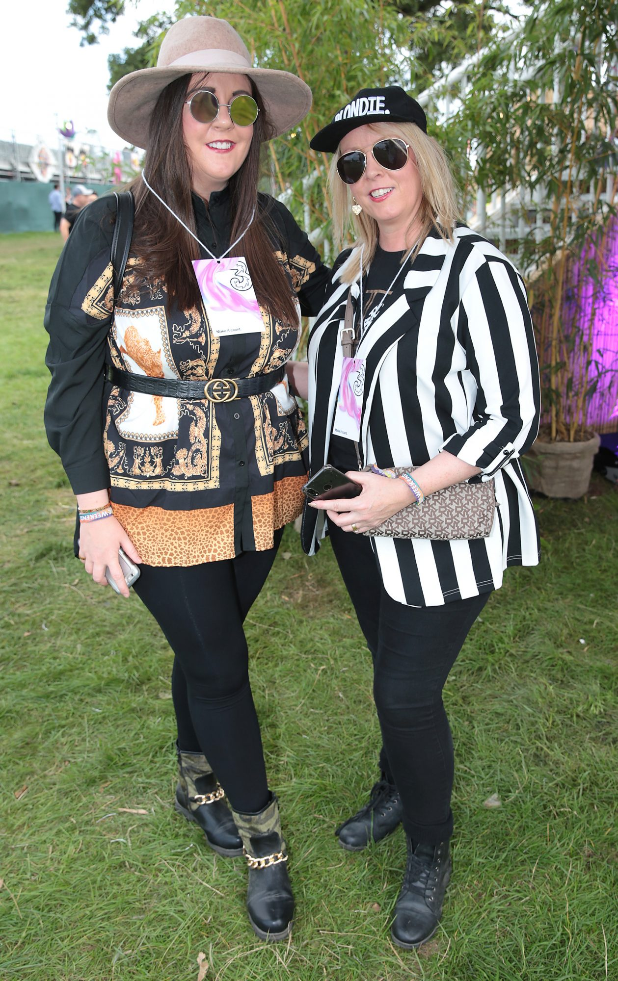 Carol Keogh and Martina Walsh at Three's Charge & Chill at Electric Picnic at Stradbally, Co. Laois. Picture: Brian McEvoyNo Repro fee for one use