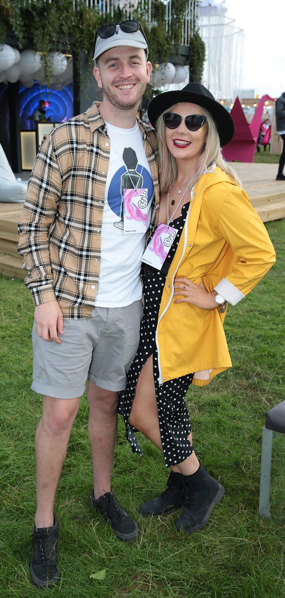 Graham McConnell and Jodie Fitzpatrick at Three's Charge & Chill at Electric Picnic at Stradbally, Co. Laois. Picture: Brian McEvoyNo Repro fee for one use