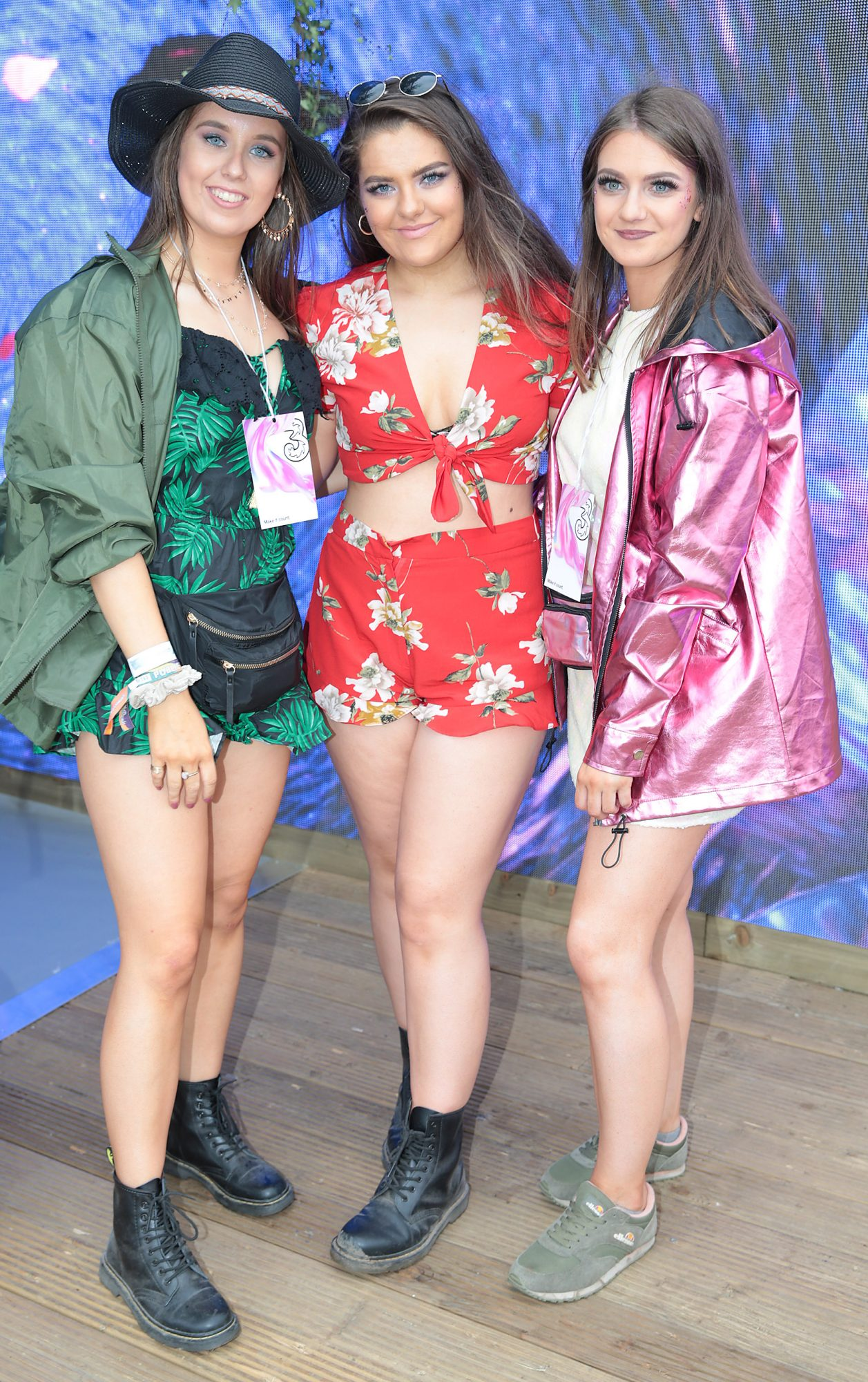 Aisling Quigley, from Valentia Island, Georgina Smith, from Doaer Aine, and Mairead Walsh, from Meeling, at Three's Charge & Chill at Electric Picnic at Stradbally, Co. Laois. Picture: Brian McEvoyNo Repro fee for one use